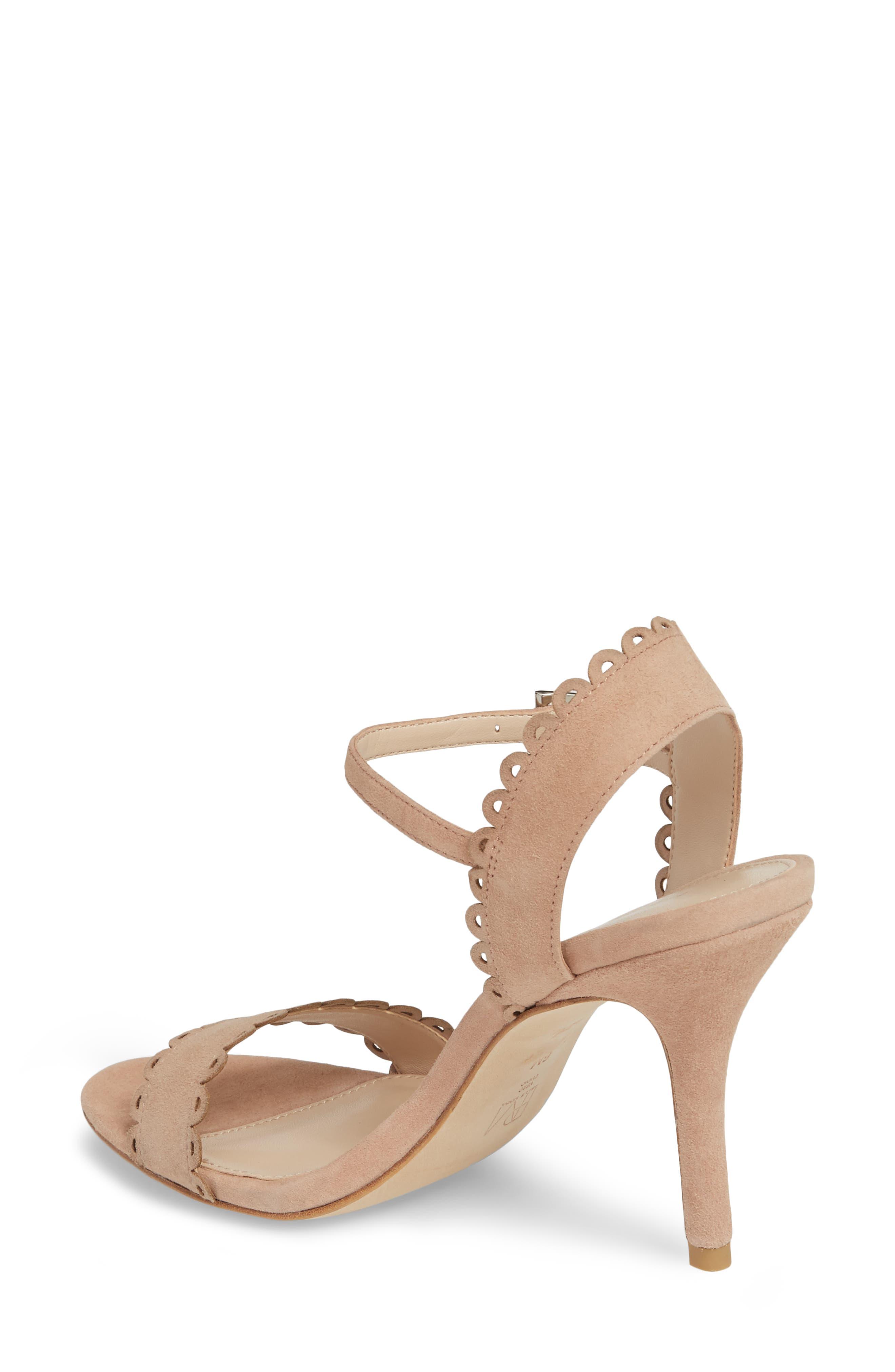 Karen Scallop Ankle Strap Sandal,                             Alternate thumbnail 6, color,