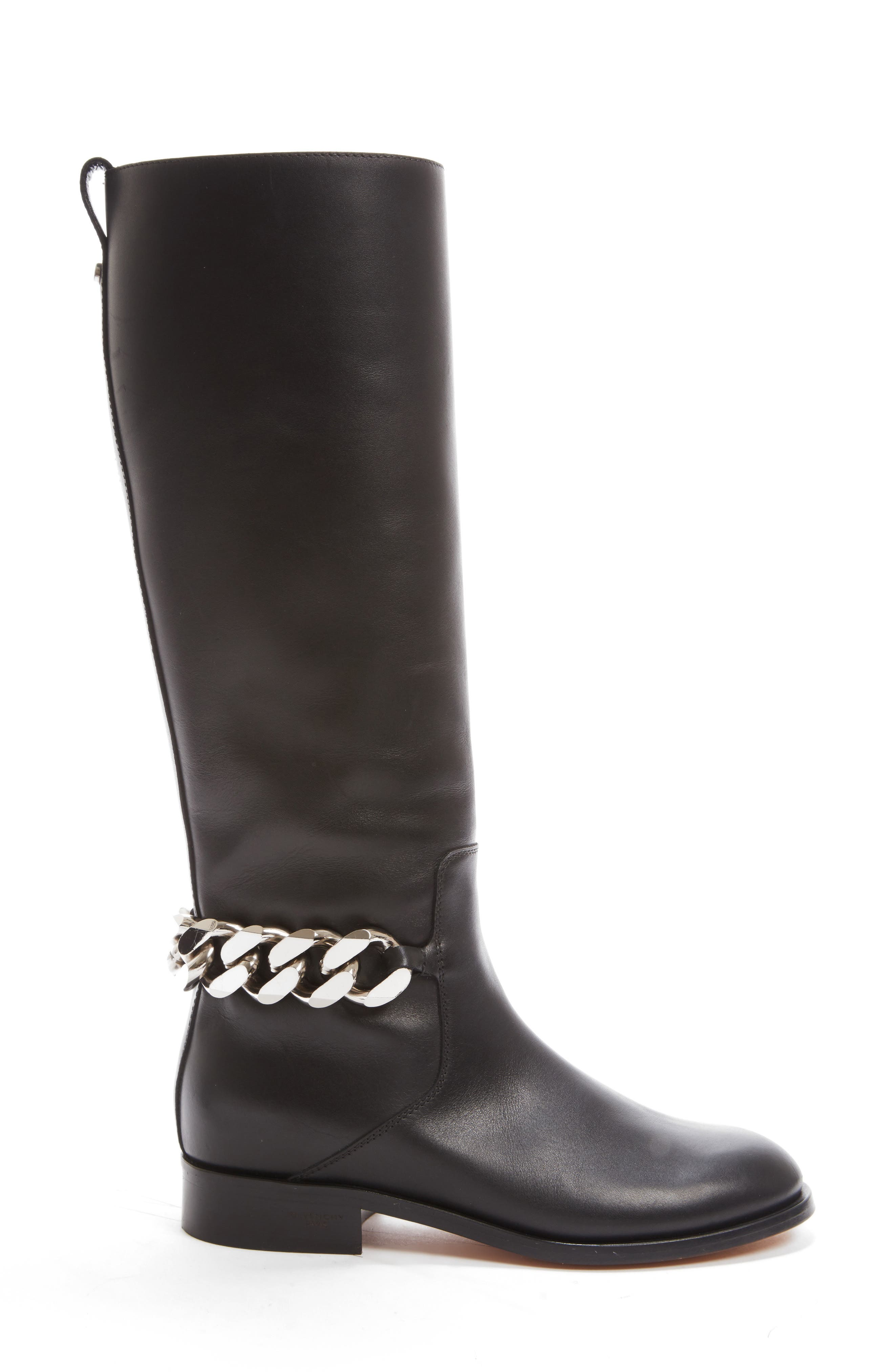 Chain Tall Boot,                             Alternate thumbnail 4, color,                             001