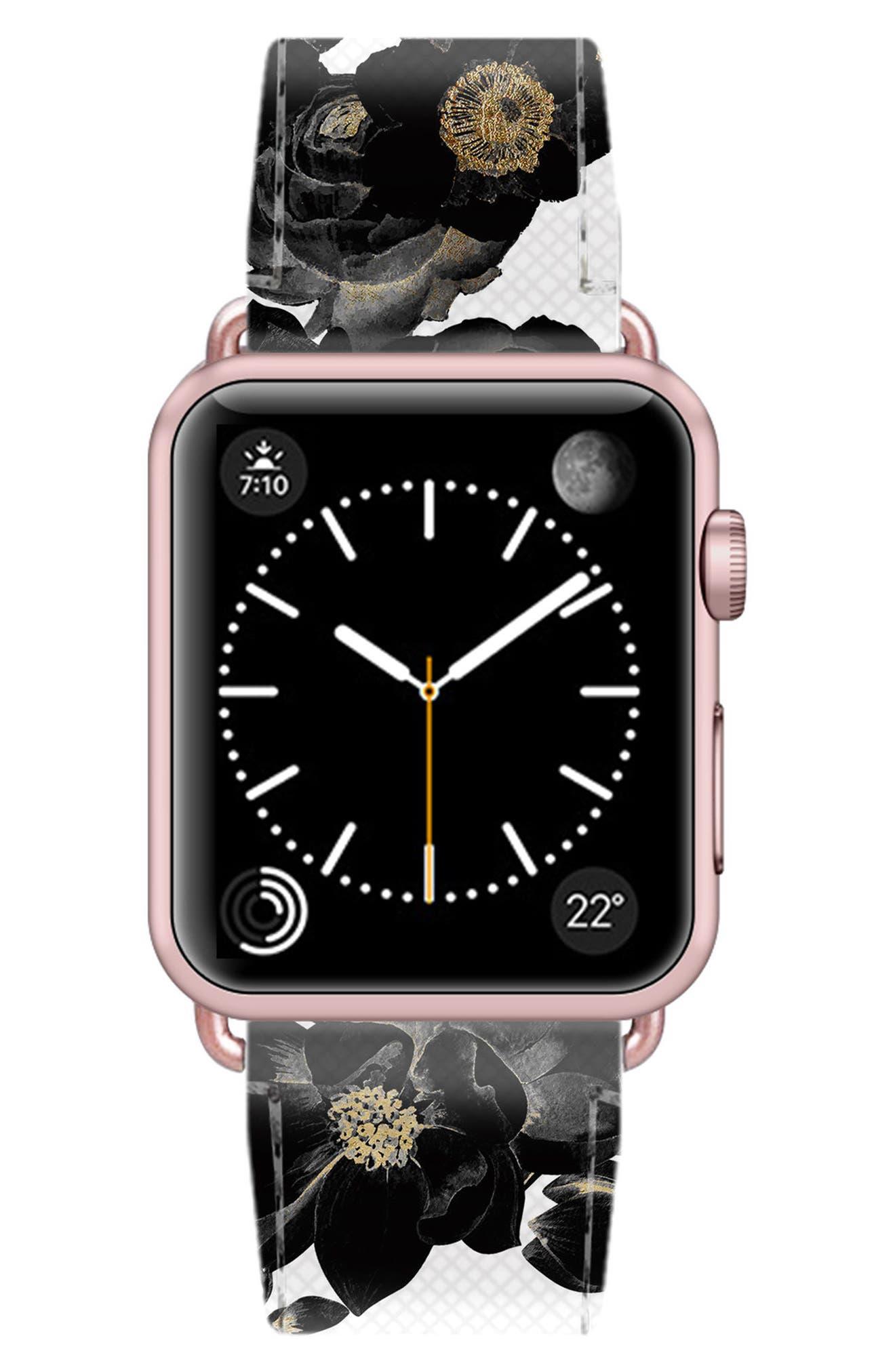 Saffiano Faux Leather Apple Watch Strap,                             Alternate thumbnail 27, color,
