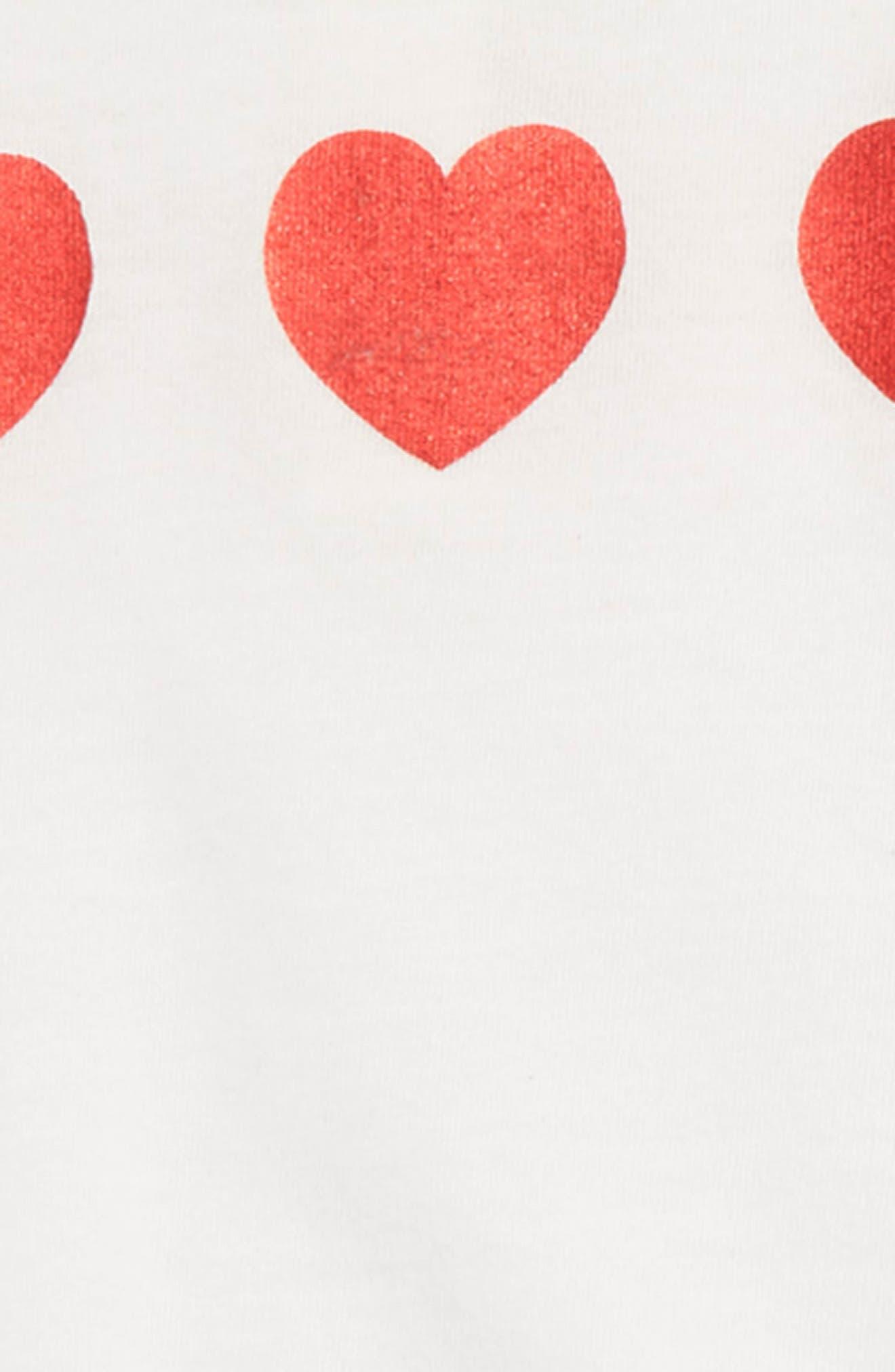 Glitter Heart T-Shirt & Tulle Skirt Set,                             Alternate thumbnail 2, color,                             IVORY EGRET SPARKLE HEART