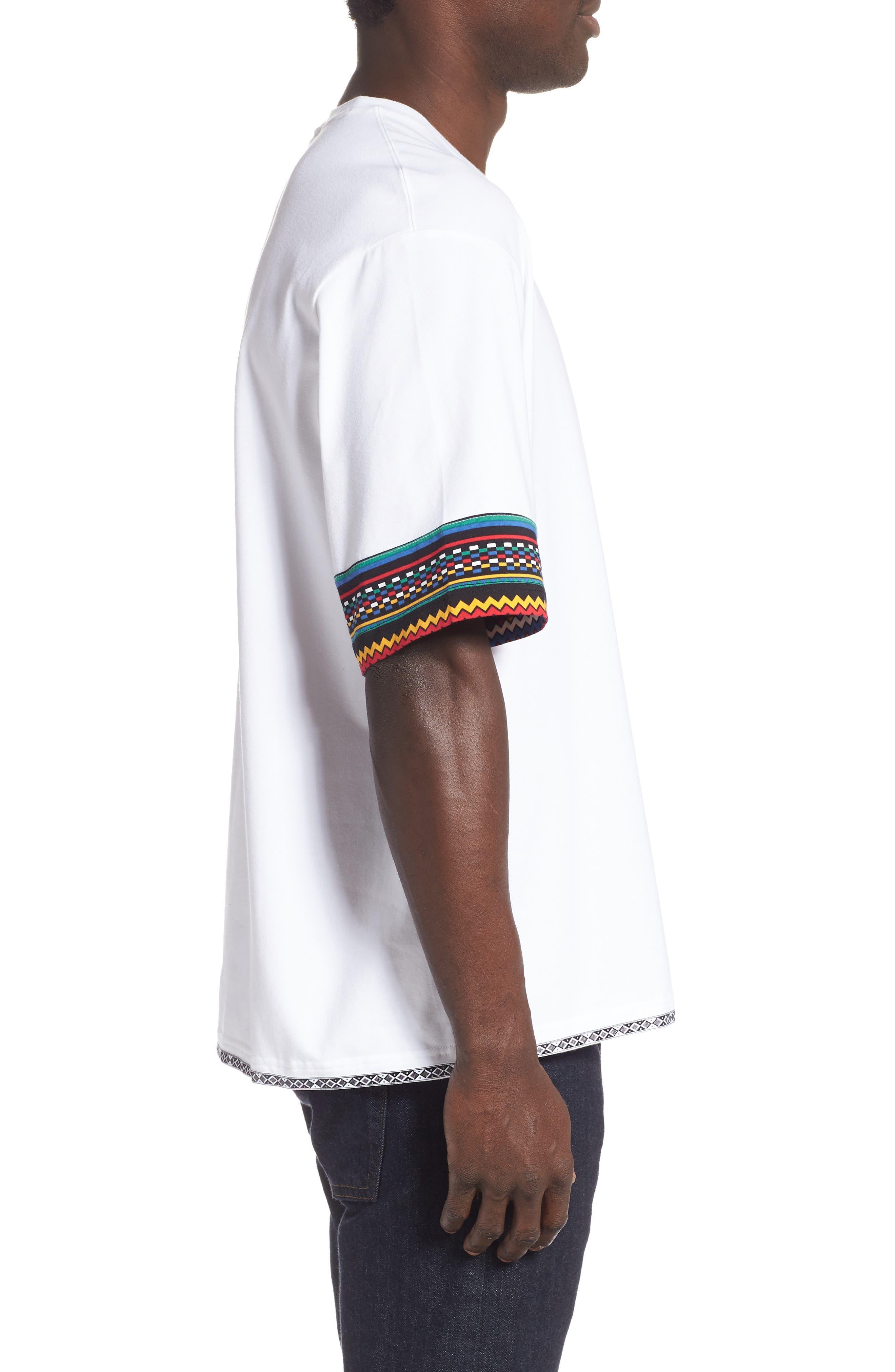 by Pharrell Williams Hu Solar Trefoil T-Shirt,                             Alternate thumbnail 3, color,                             100