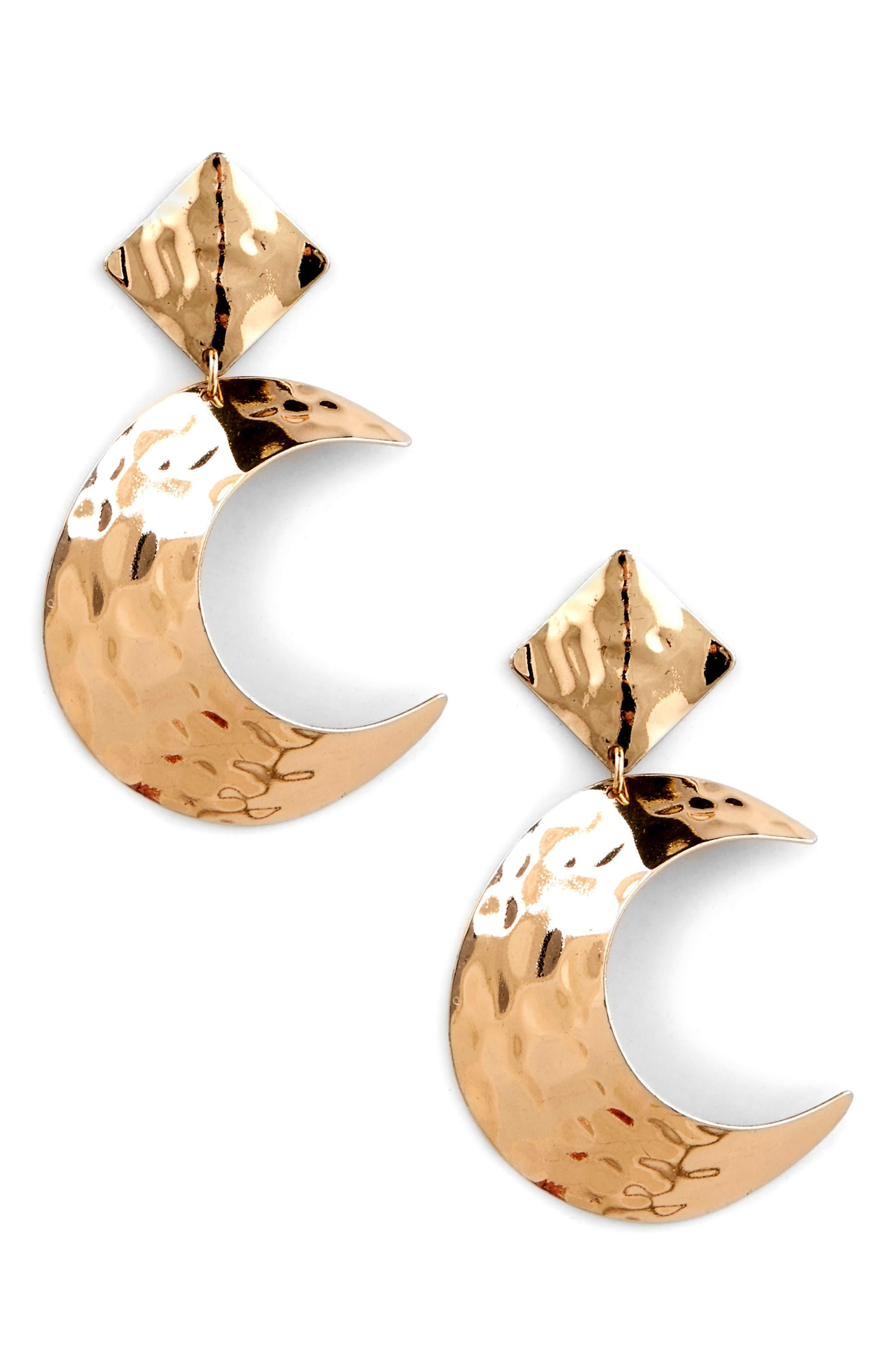 Lunar Statement Earrings,                             Main thumbnail 1, color,                             GOLD