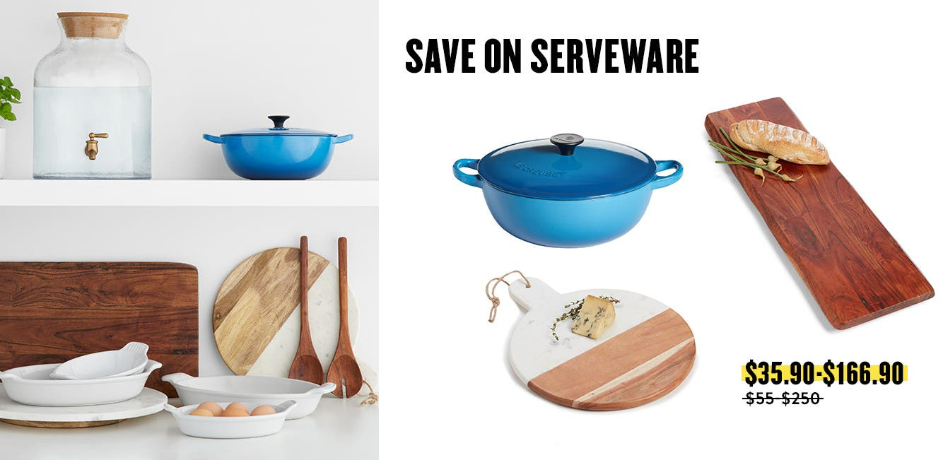Serveware on sale.