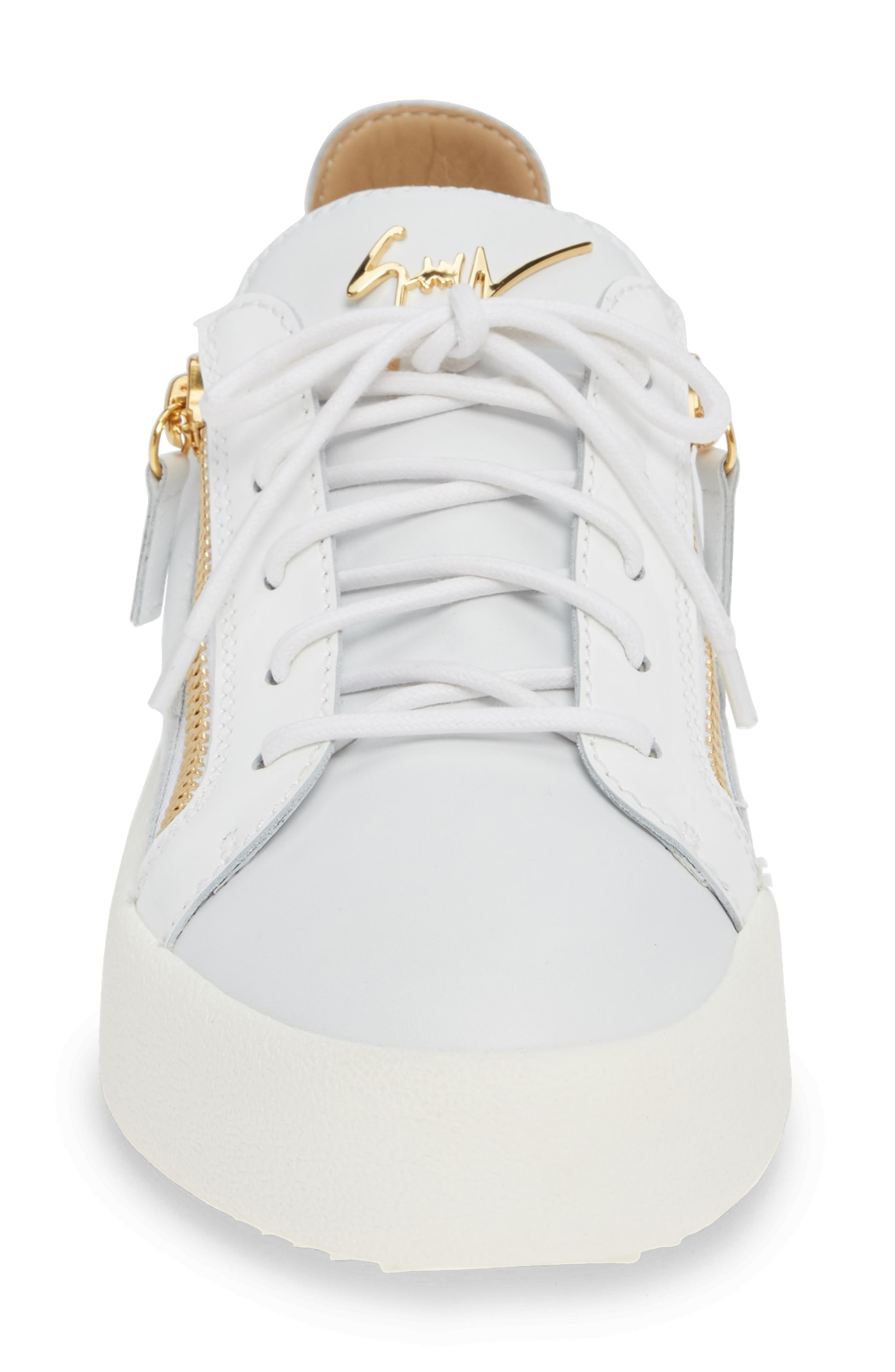 Low Top Sneaker,                             Alternate thumbnail 4, color,                             WHITE