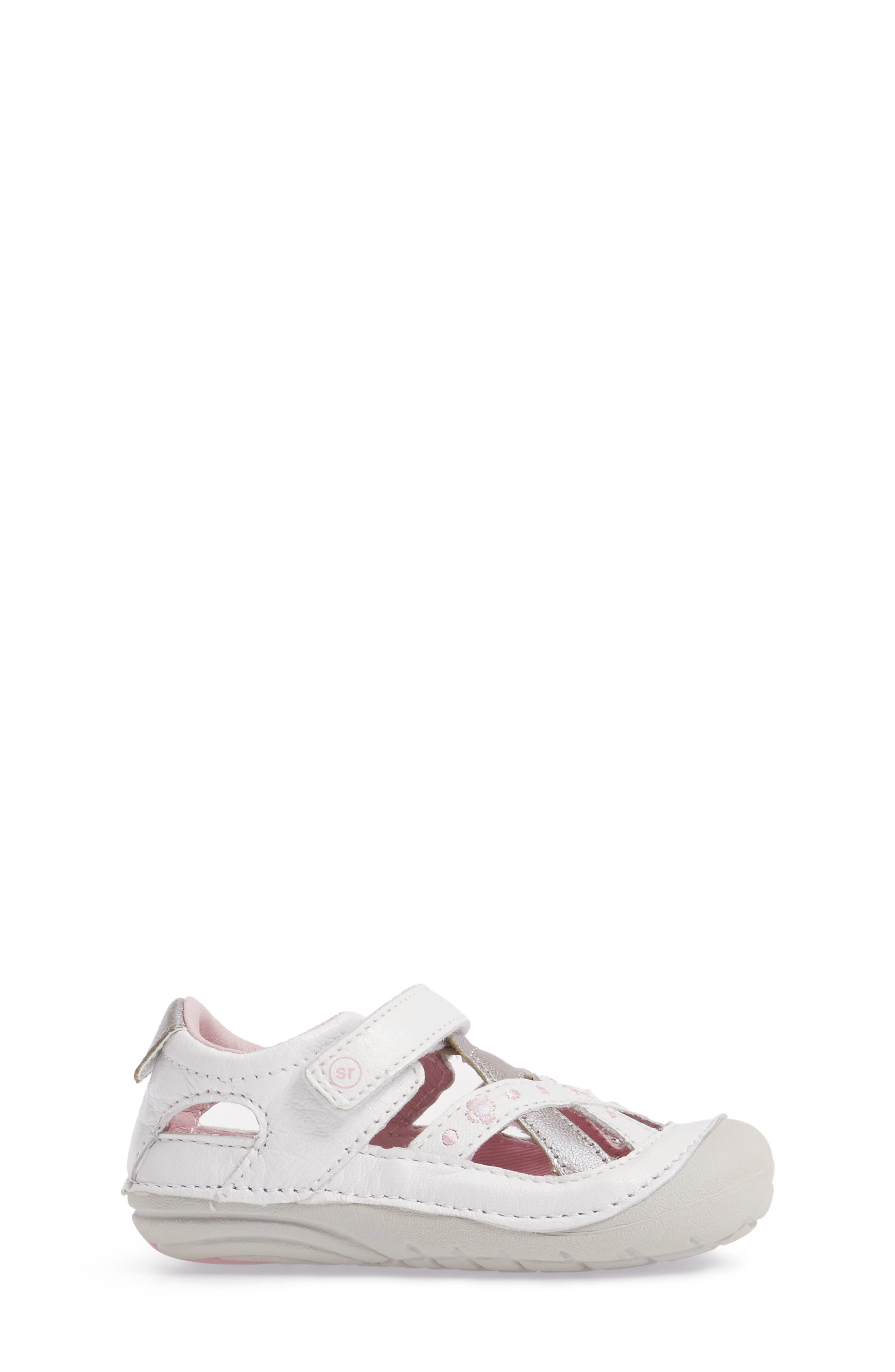 STRIDE RITE,                             Kiki Embroidered Sneaker,                             Alternate thumbnail 3, color,                             WHITE