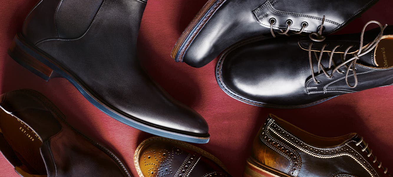 Just your size: extended-size shoes for men.