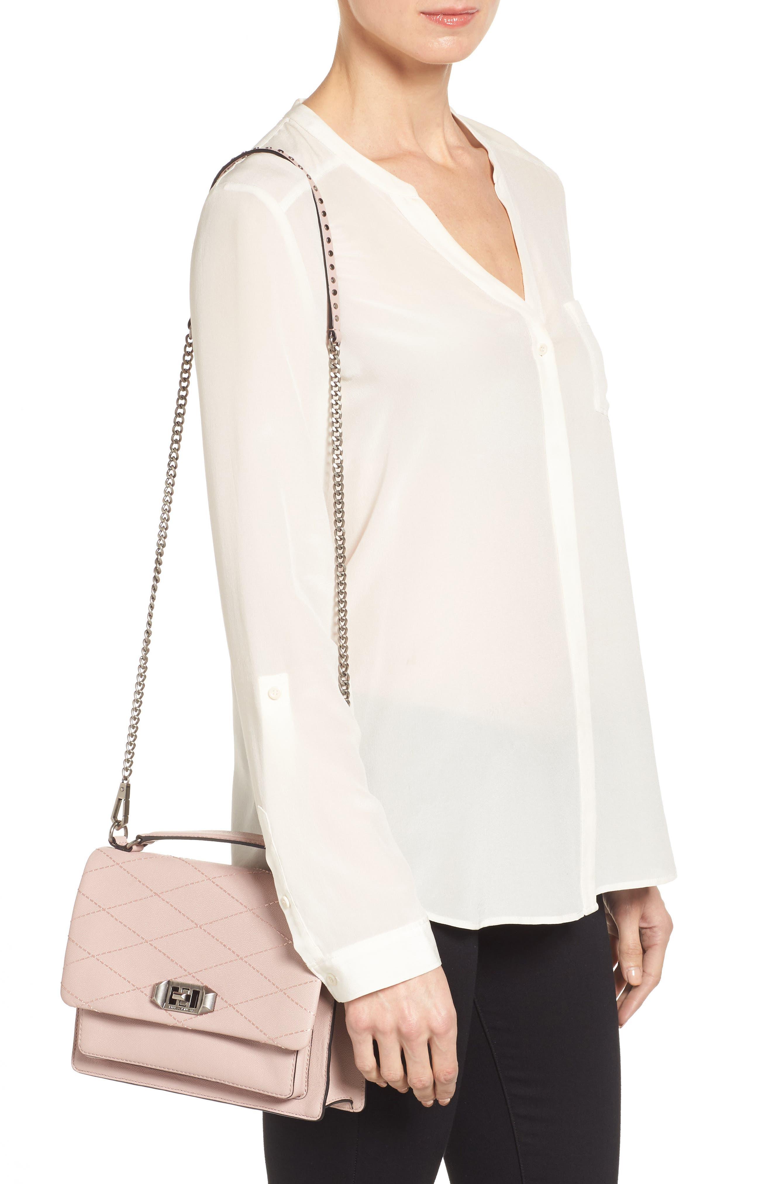 Medium Je T'aime Convertible Leather Crossbody Bag,                             Alternate thumbnail 18, color,