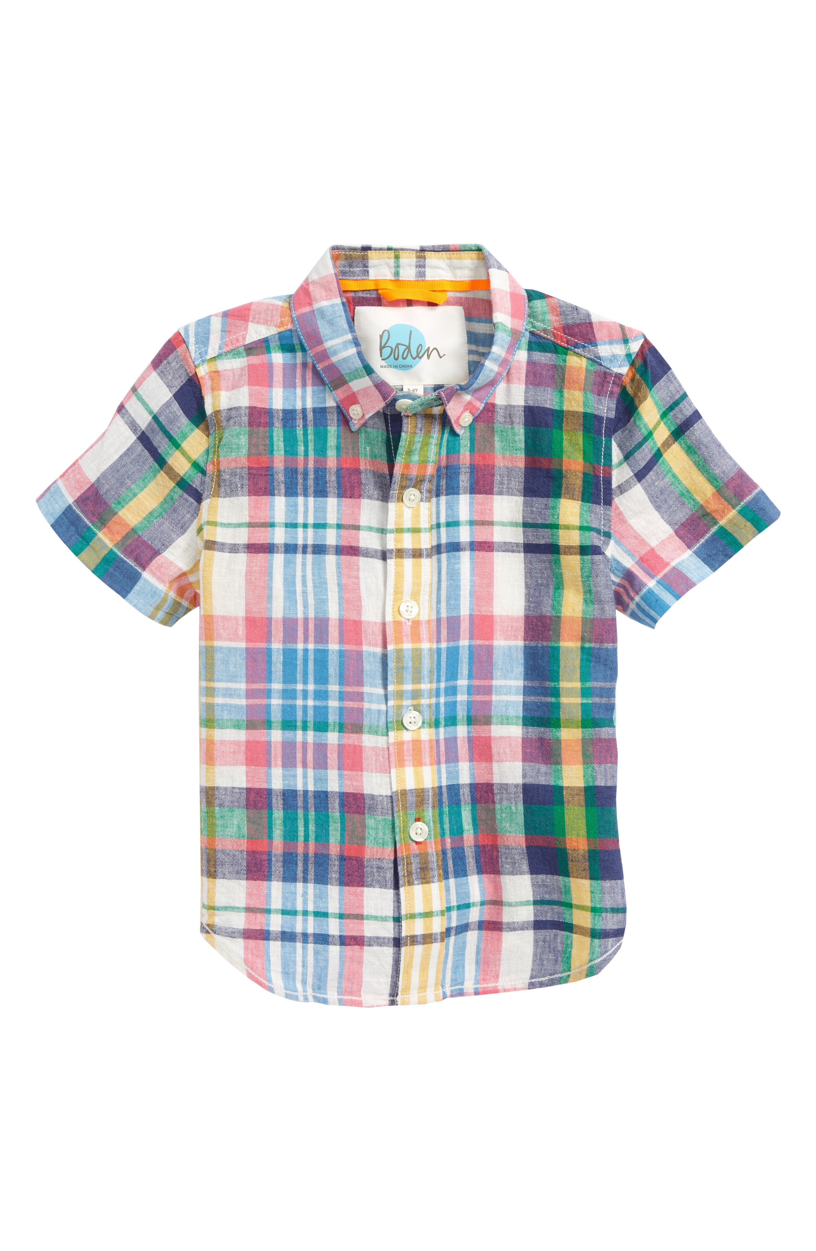 Fun Short Sleeve Button Down Shirt,                             Main thumbnail 1, color,                             400