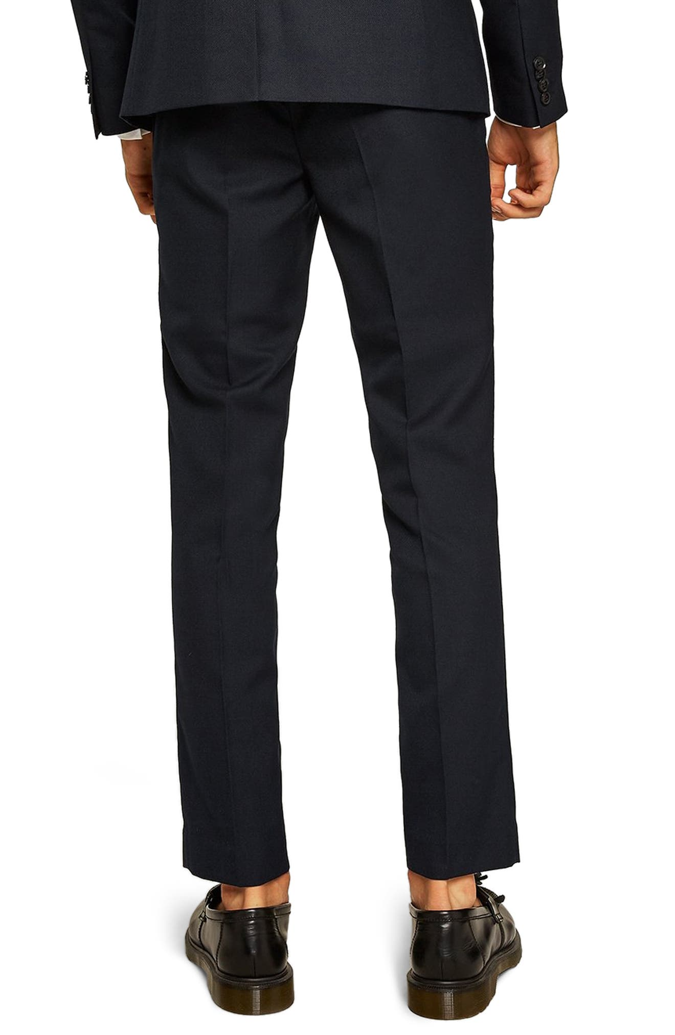 Skinny Fit Textured Trousers,                             Alternate thumbnail 2, color,                             401