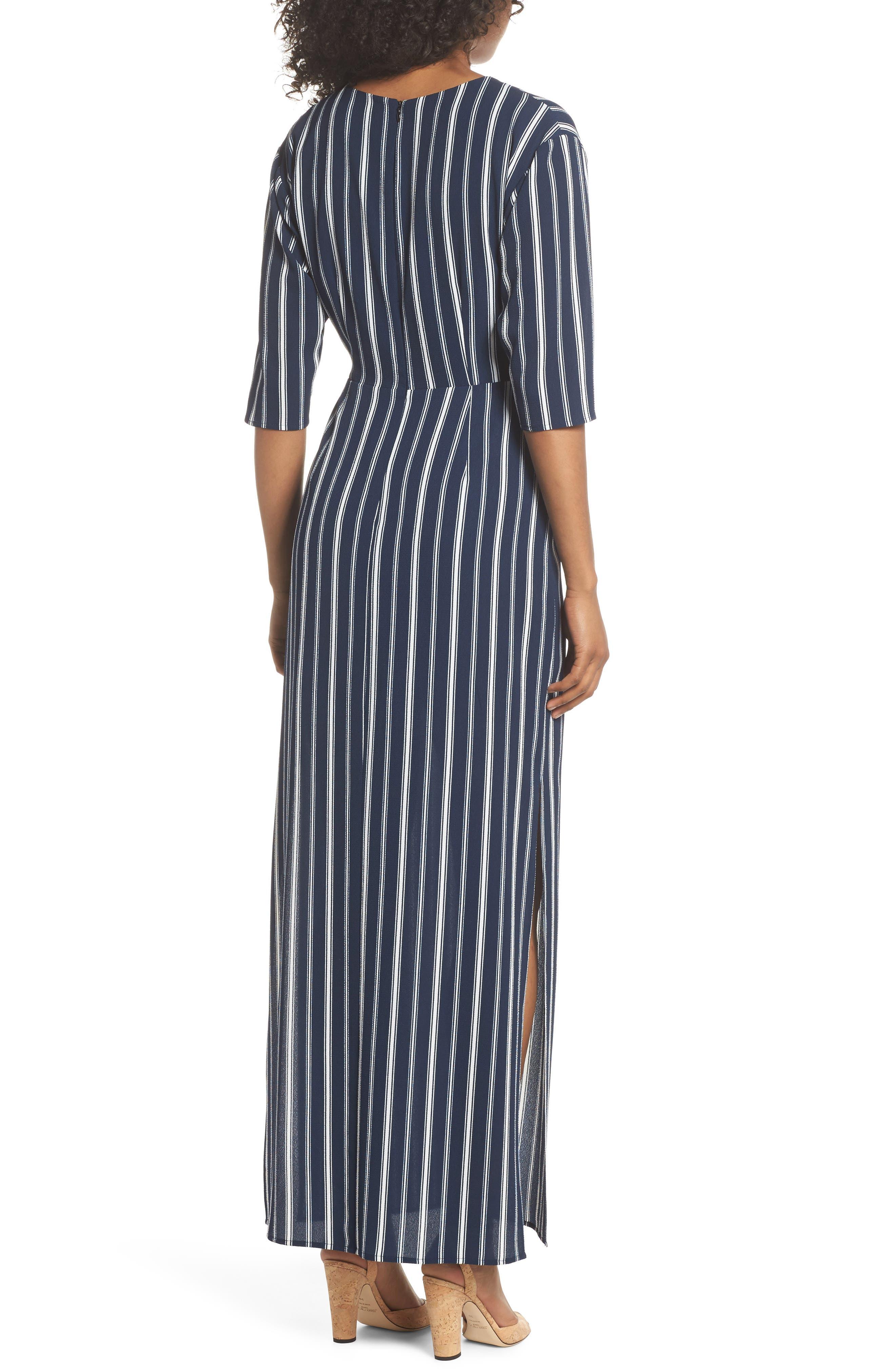 Knot Front Maxi Dress,                             Alternate thumbnail 2, color,                             439