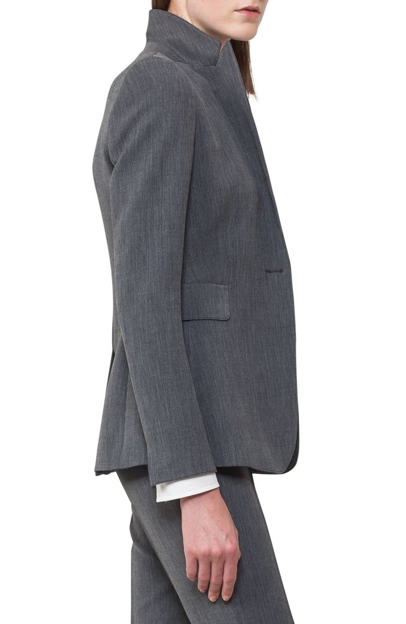 Mélange Jersey Blazer,                             Alternate thumbnail 3, color,                             001