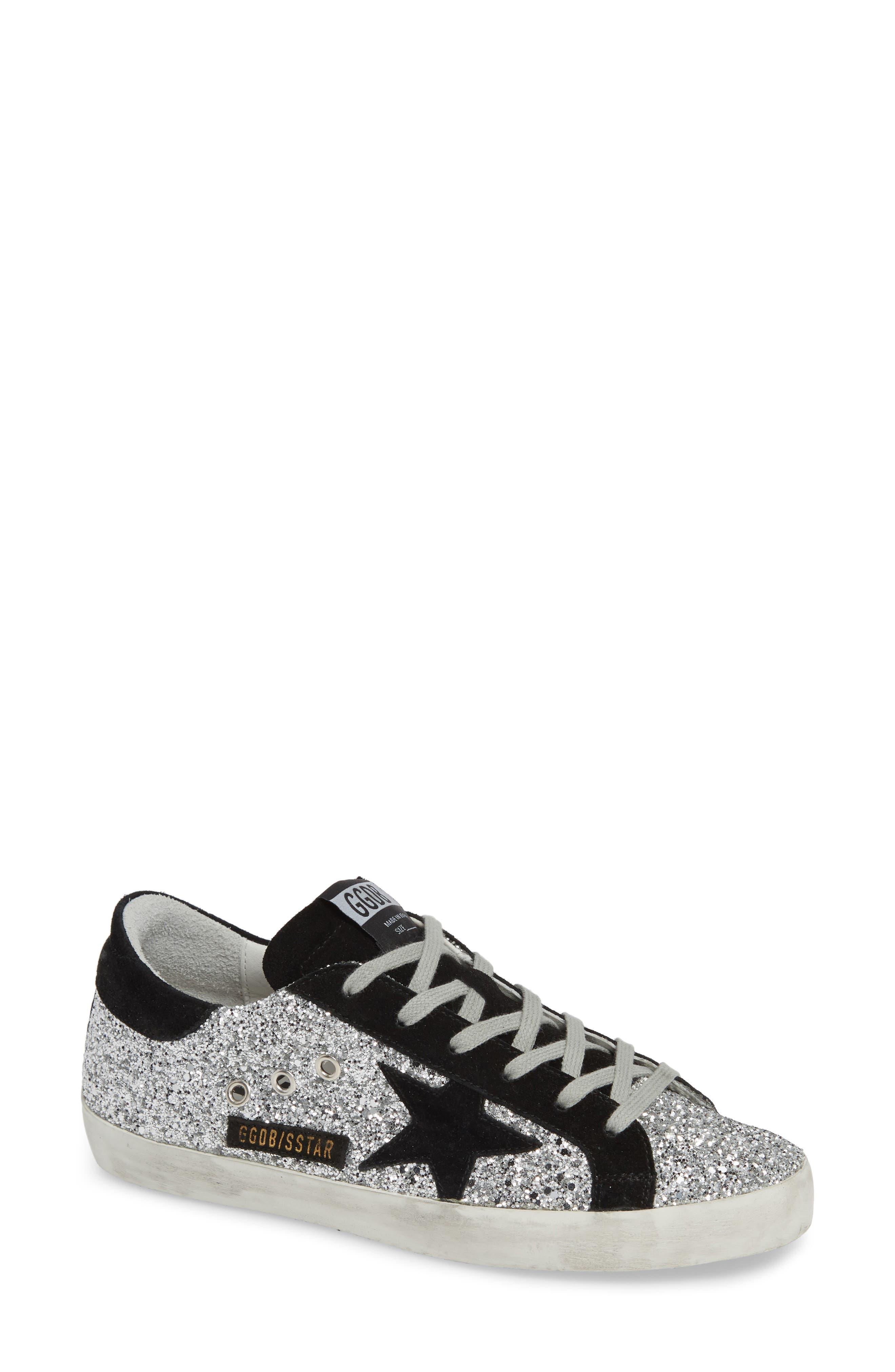 Superstar Glitter Sneaker, Main, color, 040
