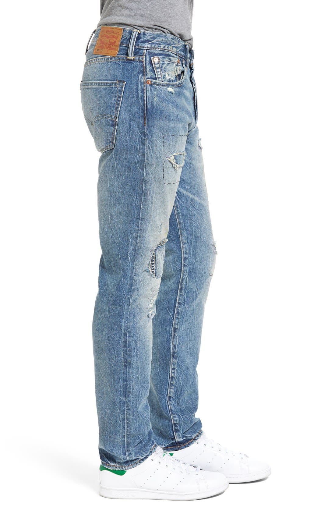 501<sup>™</sup> CT Custom Tapered Fit Jeans,                             Alternate thumbnail 2, color,                             420