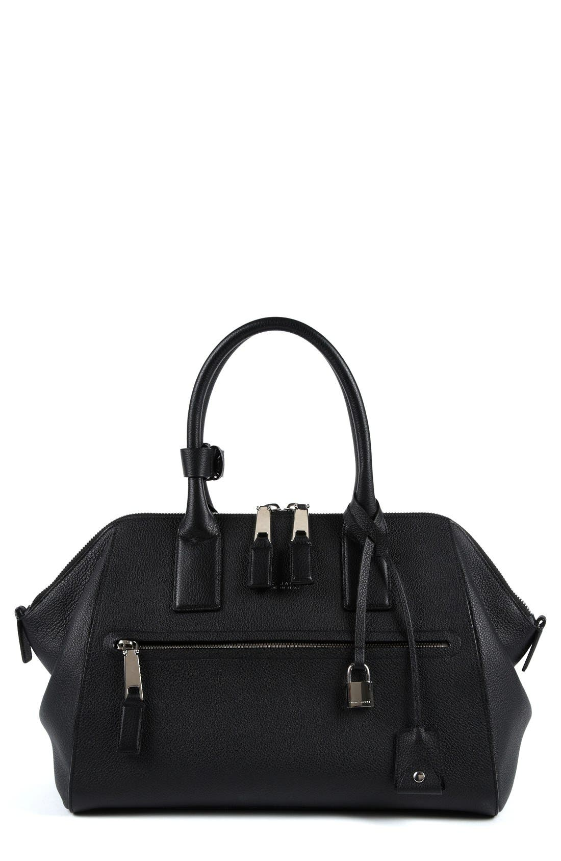 'Medium Incognito' Leather Satchel,                             Main thumbnail 1, color,                             001