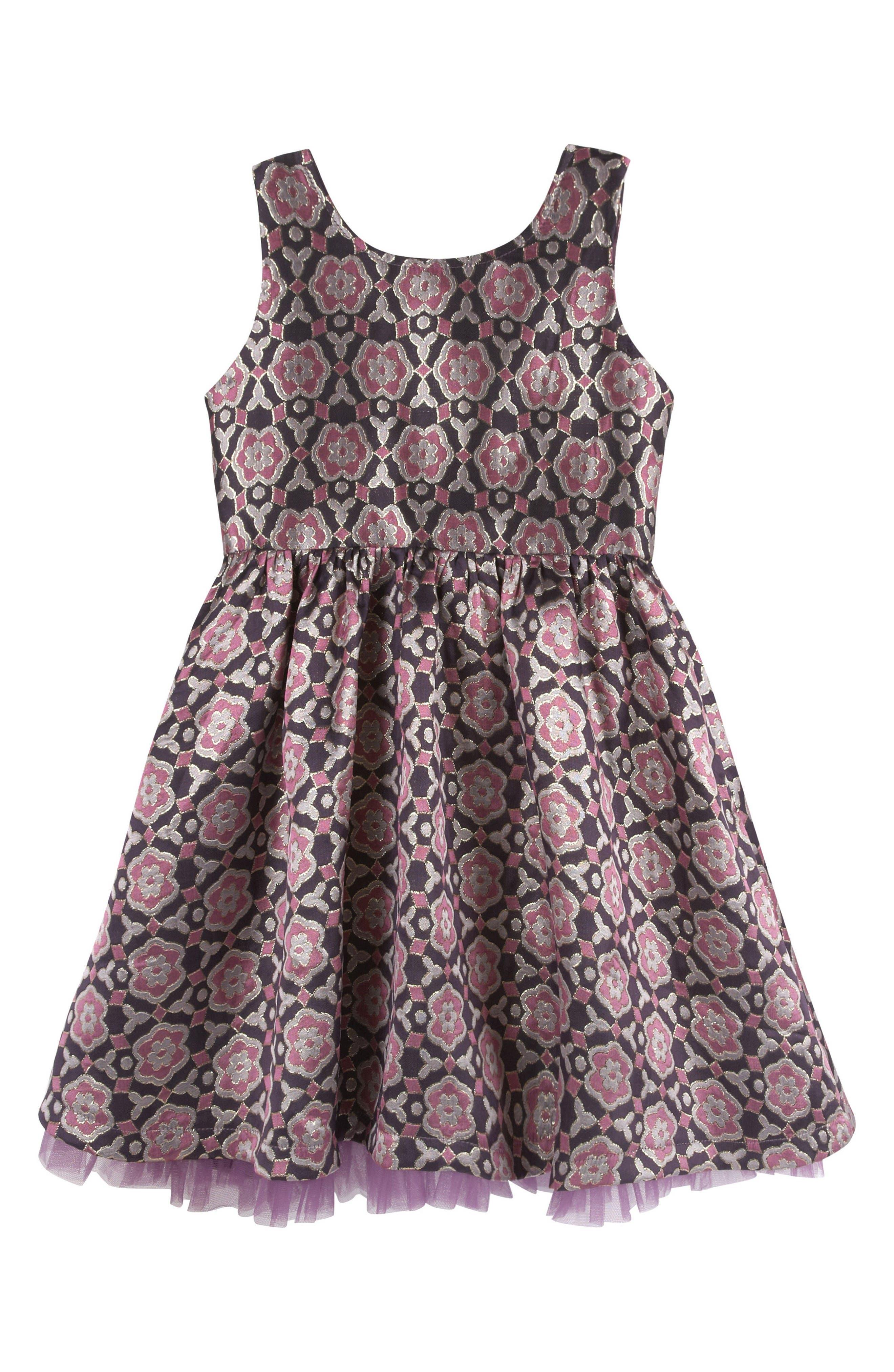 Brocade Party Dress,                             Main thumbnail 1, color,                             503