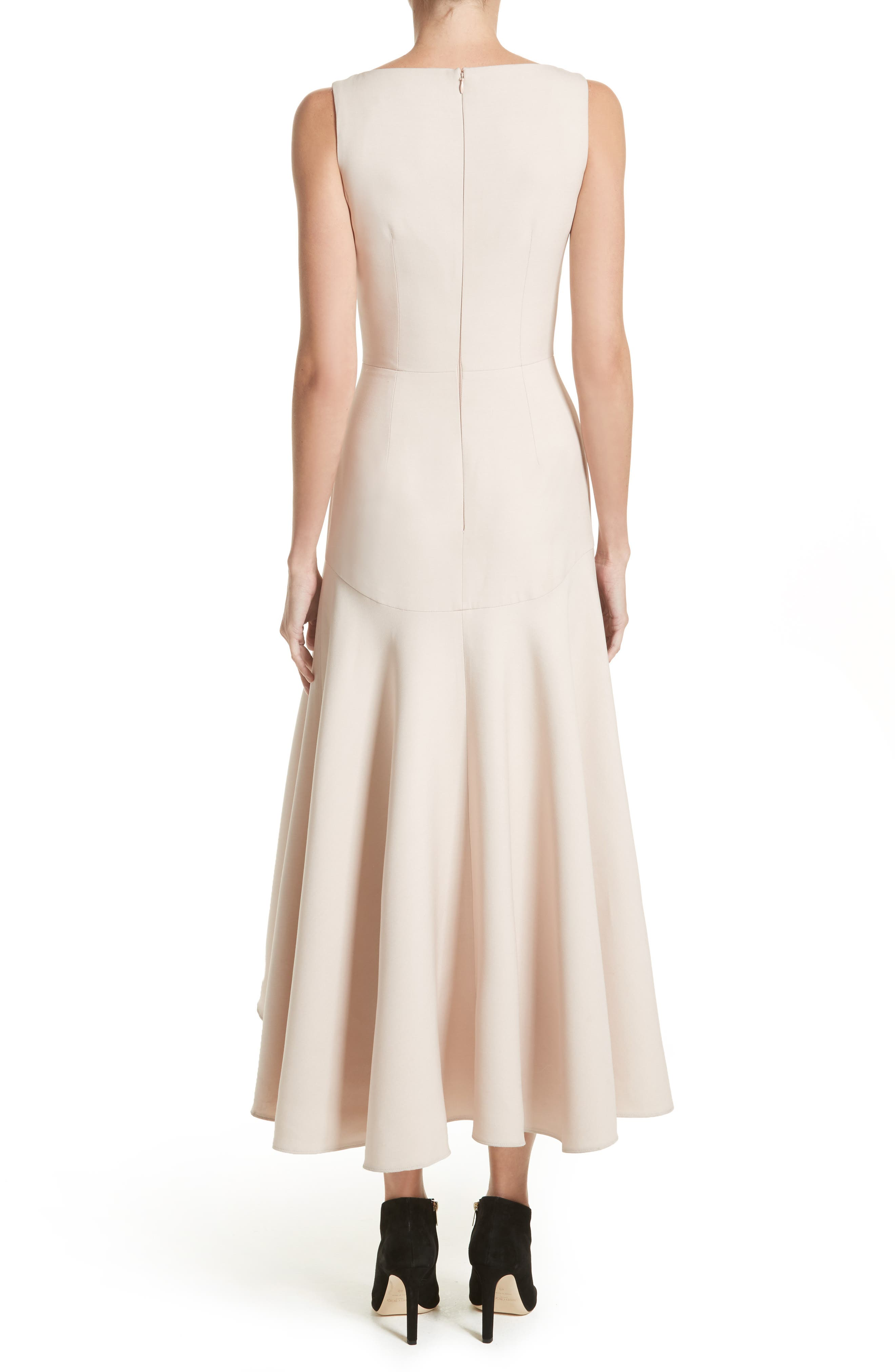 Silk Asymmetrical Dress,                             Alternate thumbnail 2, color,                             020