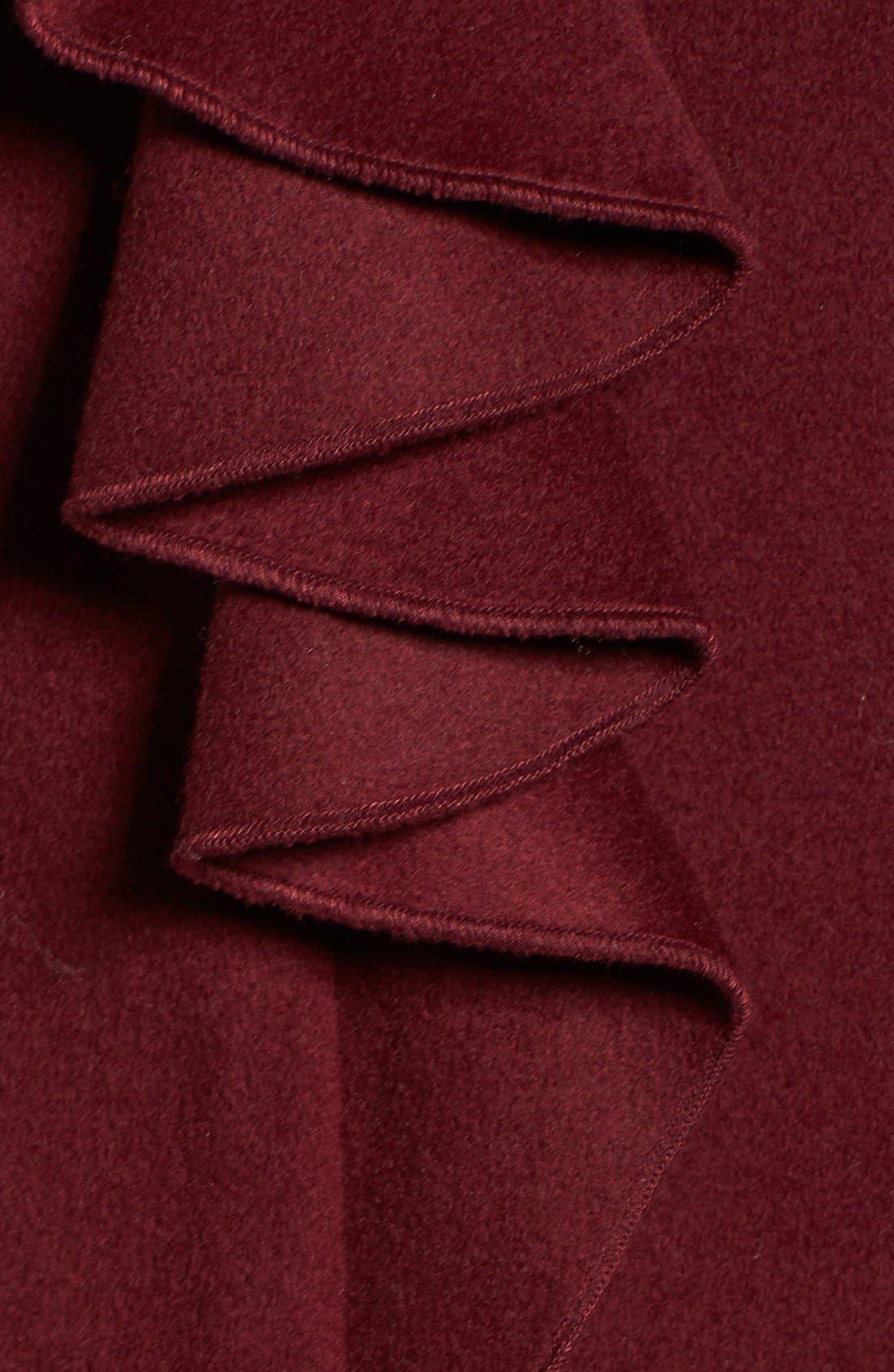 Kate Ruffle Wool Blend Coat,                             Alternate thumbnail 17, color,