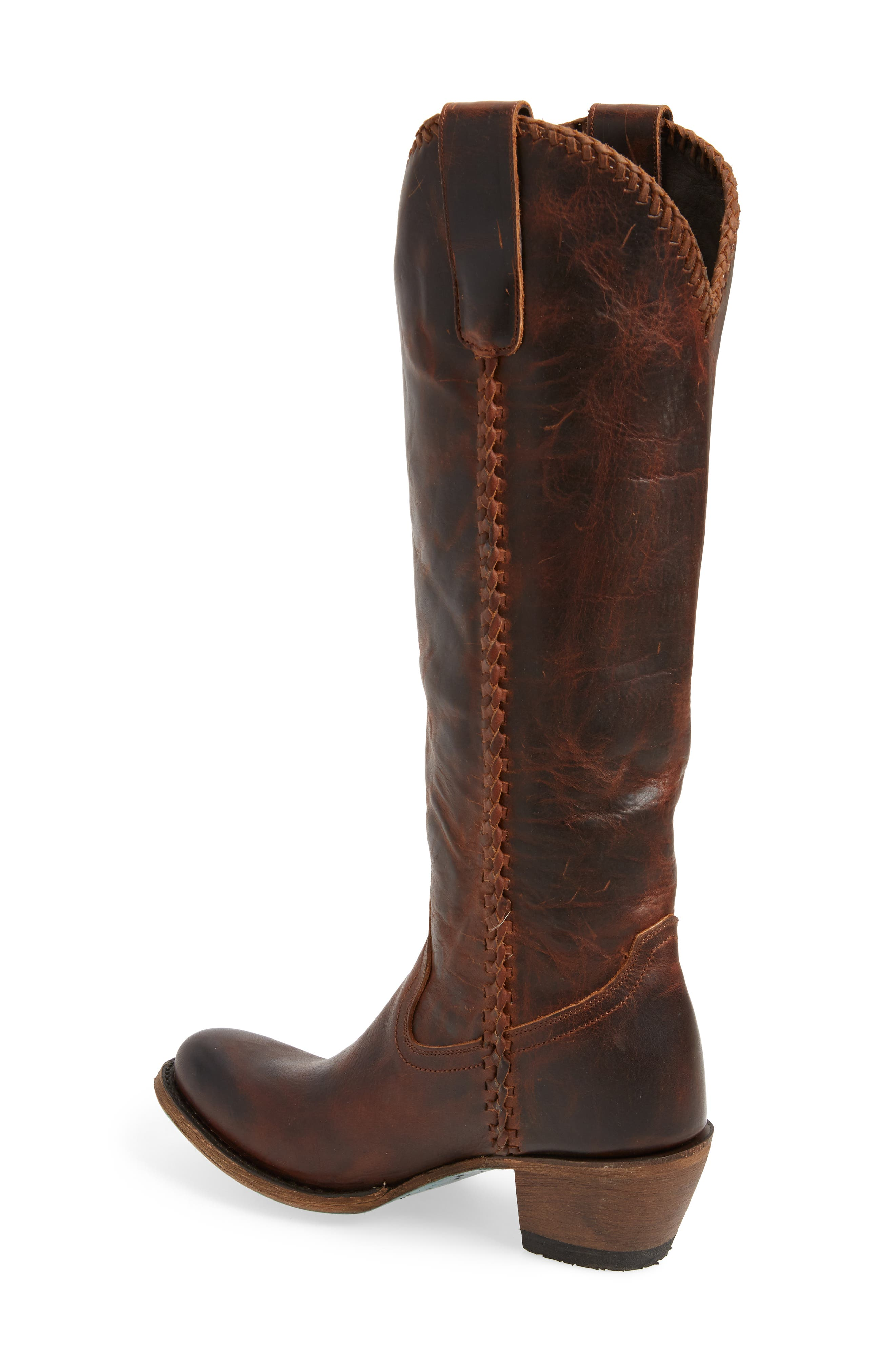 LANE BOOTS,                             Plain Jane Knee High Western Boot,                             Alternate thumbnail 2, color,                             COGNAC LEATHER