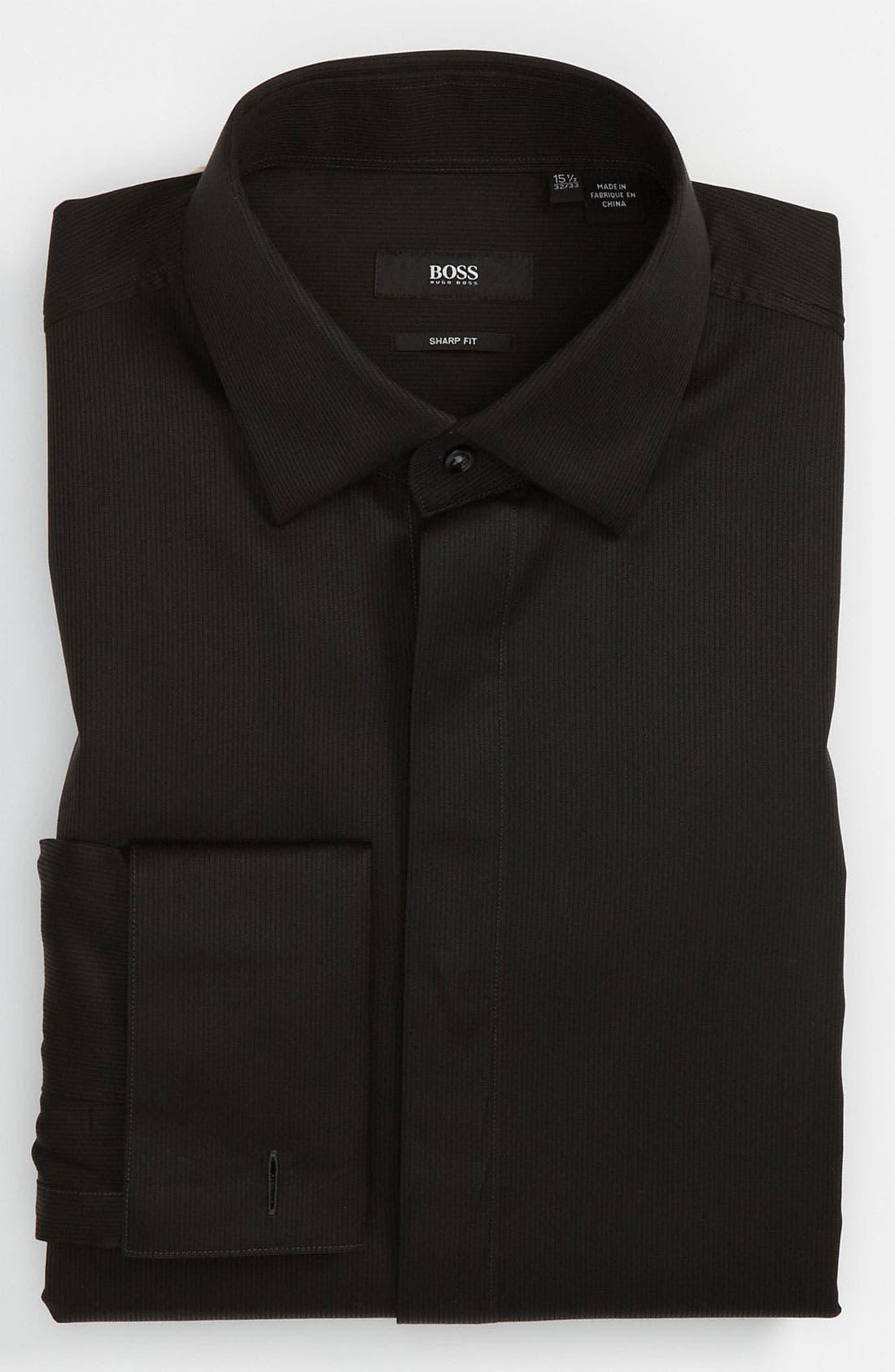 'Marlyn' Sharp Fit Stripe French Cuff Tuxedo Shirt,                             Main thumbnail 2, color,
