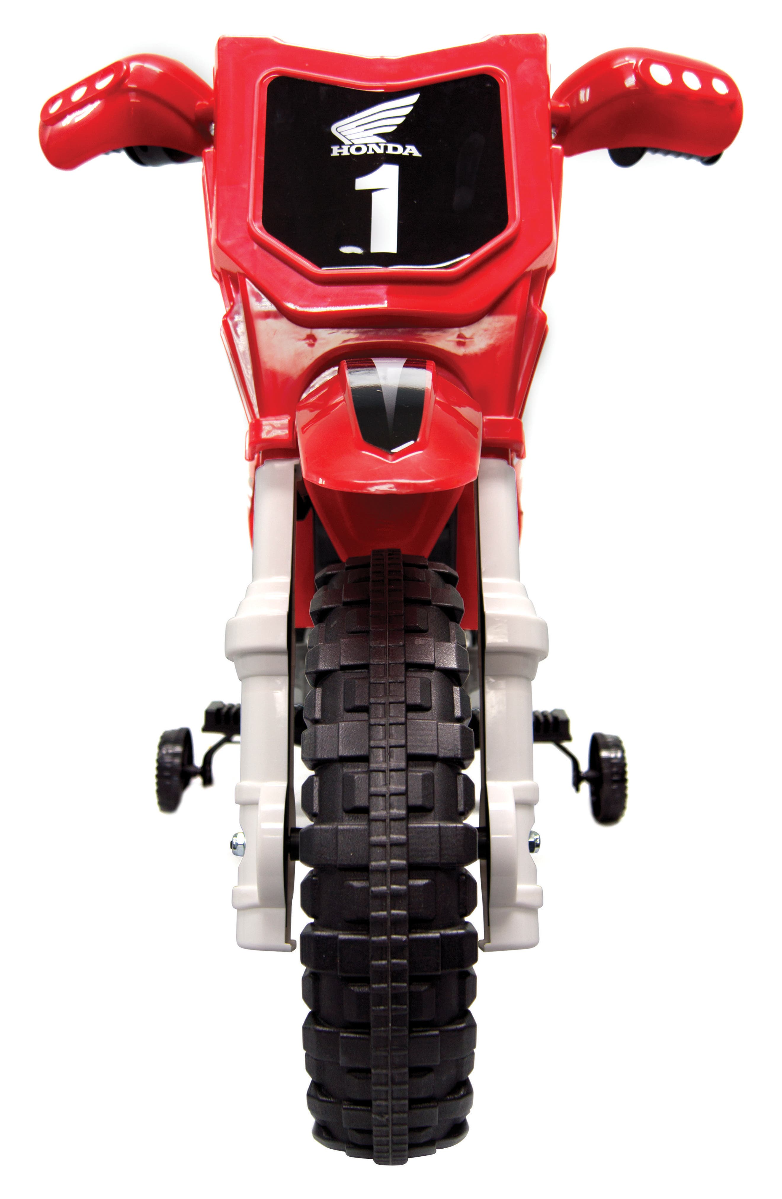 Honda Dirt Bike Ride-On Toy Motorcycle,                             Alternate thumbnail 4, color,                             RED