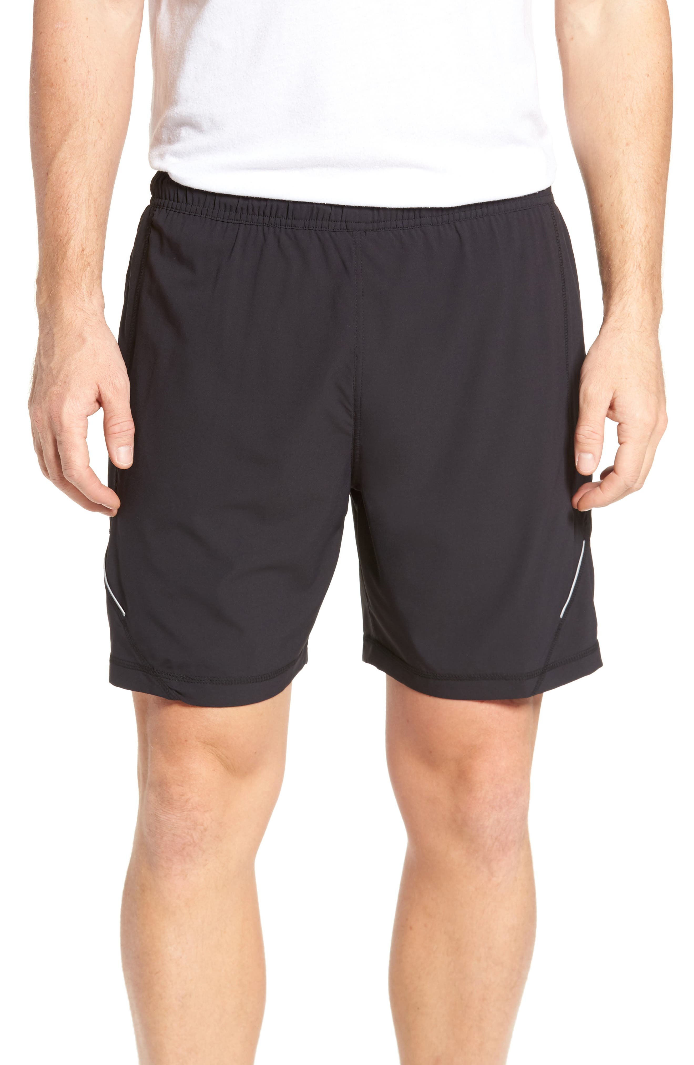 Propulsion Athletic Shorts,                         Main,                         color, BLACK