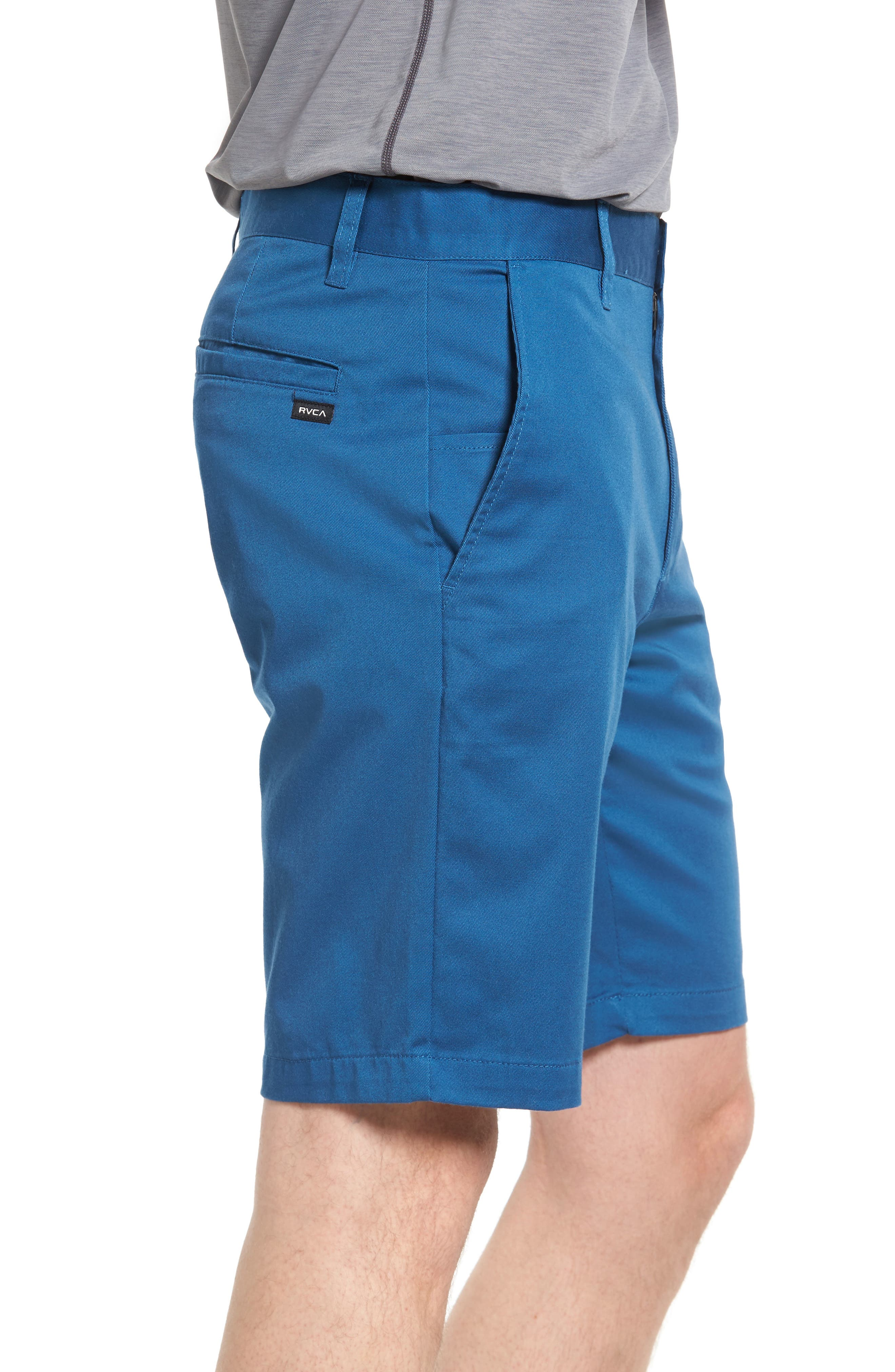 The Week-End Stretch Twill Chino Shorts,                             Alternate thumbnail 3, color,                             DARK BLUE