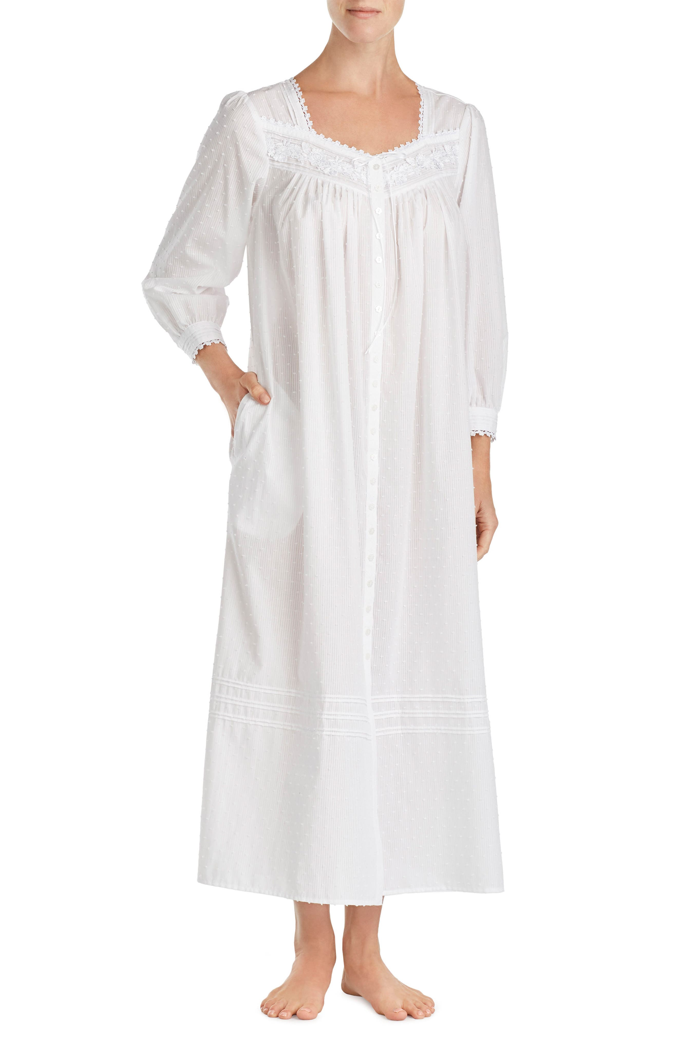 Swiss Dot Nightgown,                             Main thumbnail 1, color,