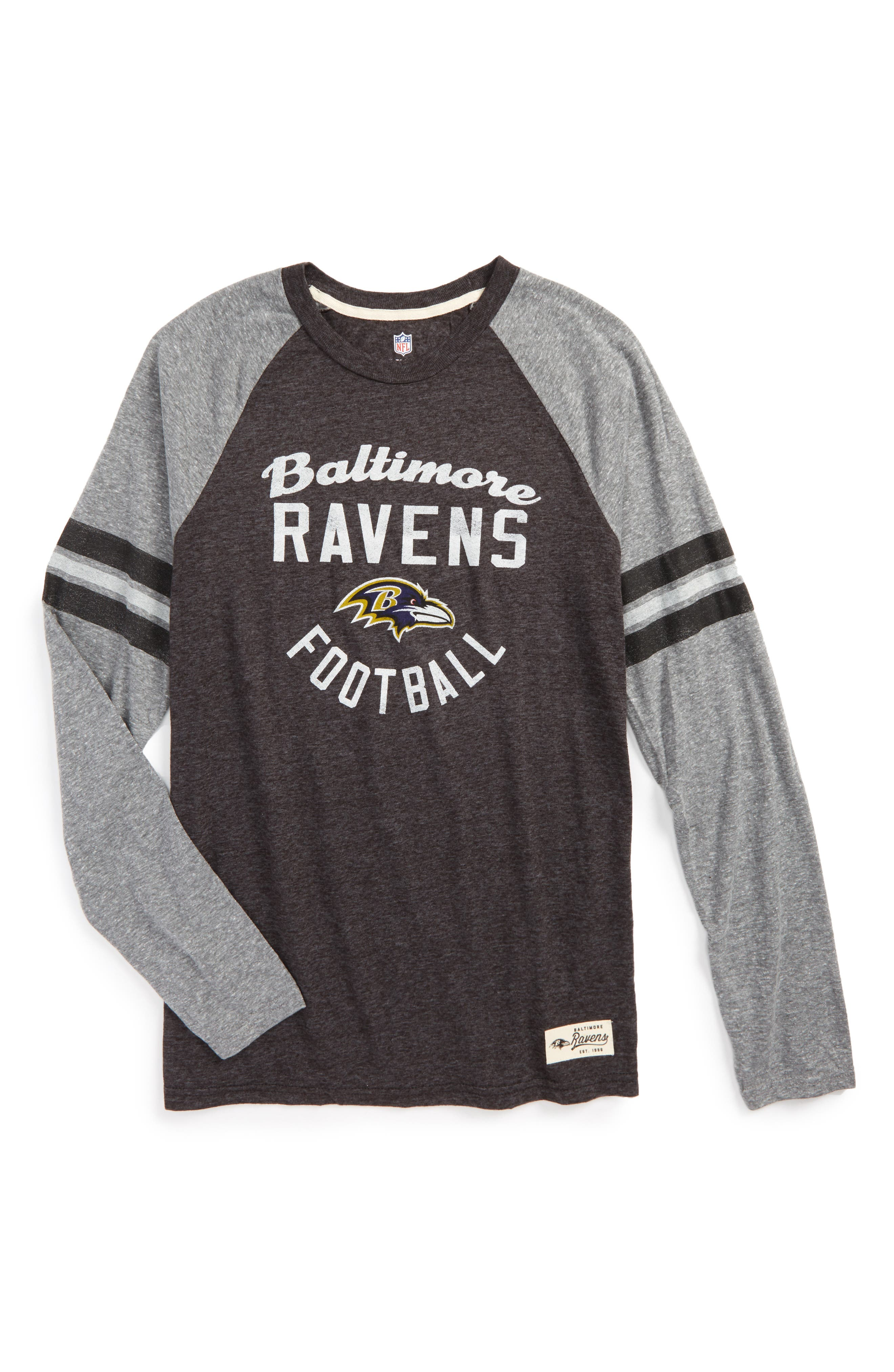 NFL Baltimore Ravens Distressed Logo T-Shirt,                             Main thumbnail 1, color,                             500