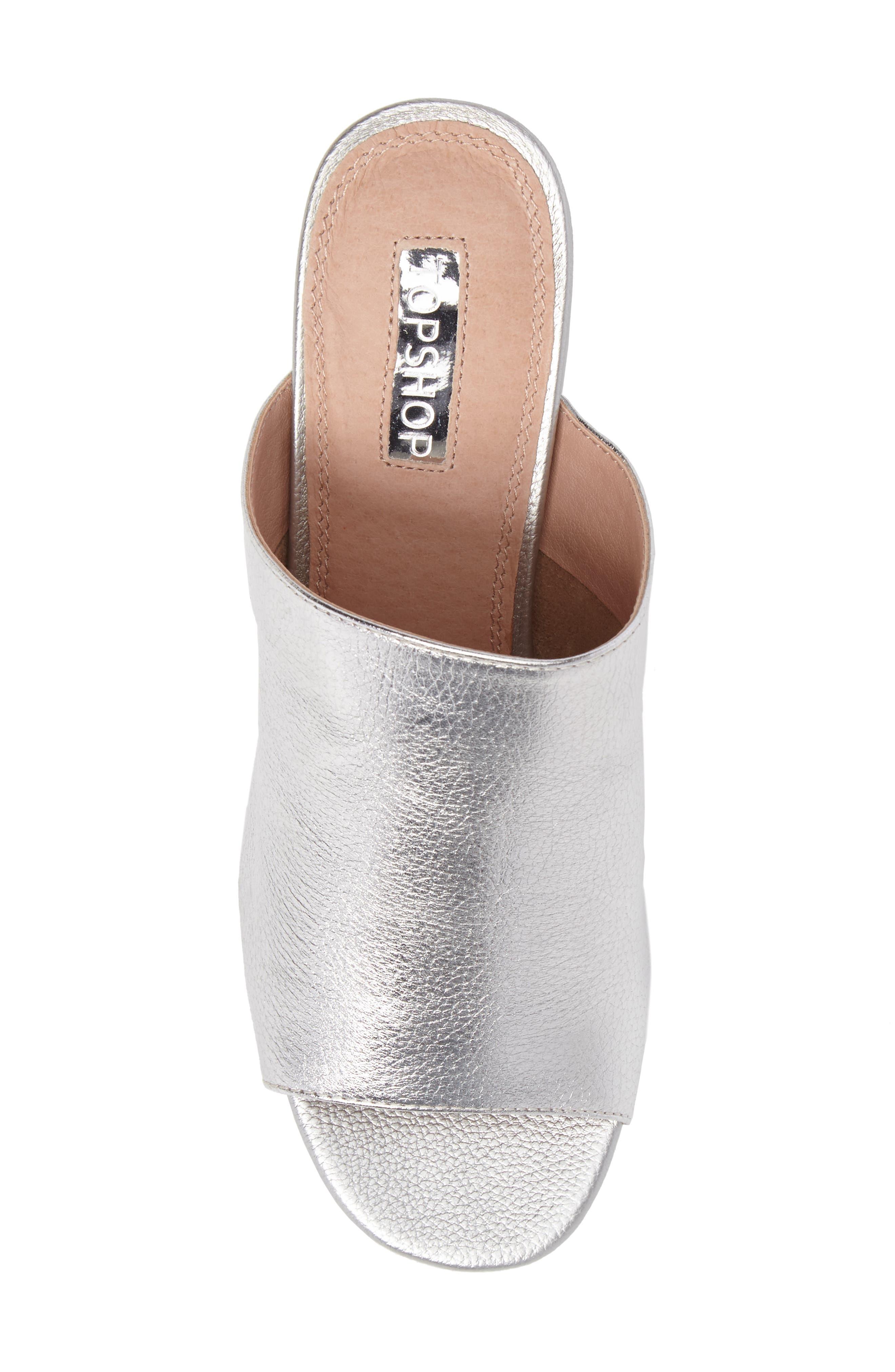 Notorious Metallic Slide Sandal,                             Alternate thumbnail 5, color,                             040