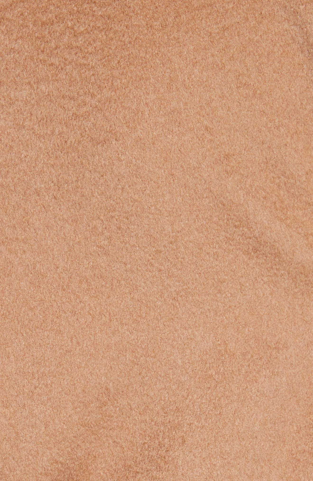 Camel Hair Coat with Genuine Fox Fur & Genuine Mink Fur Trim,                             Alternate thumbnail 6, color,                             232