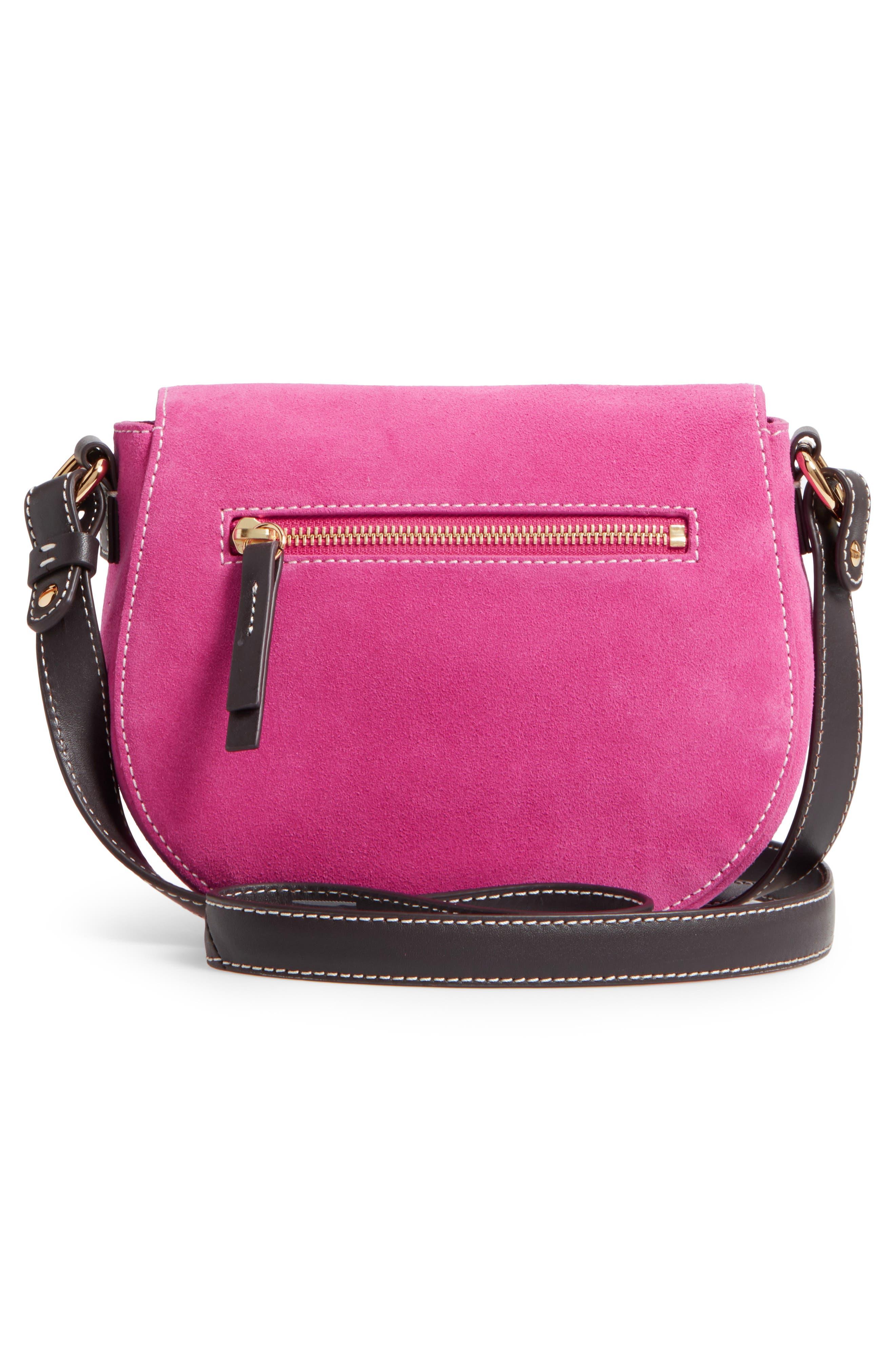 Mini Ellen Suede Crossbody Bag,                             Alternate thumbnail 9, color,