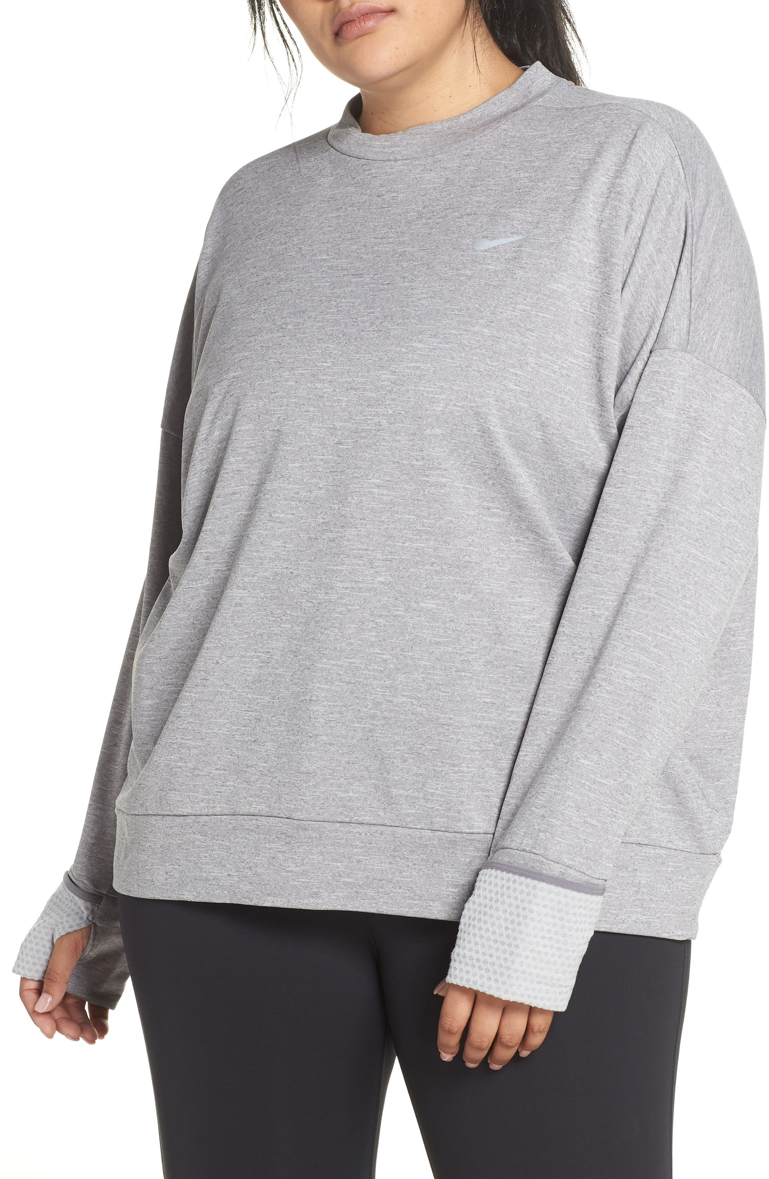 Therma Sphere Element Running Shirt, Main, color, GUNSMOKE/ HEATHER