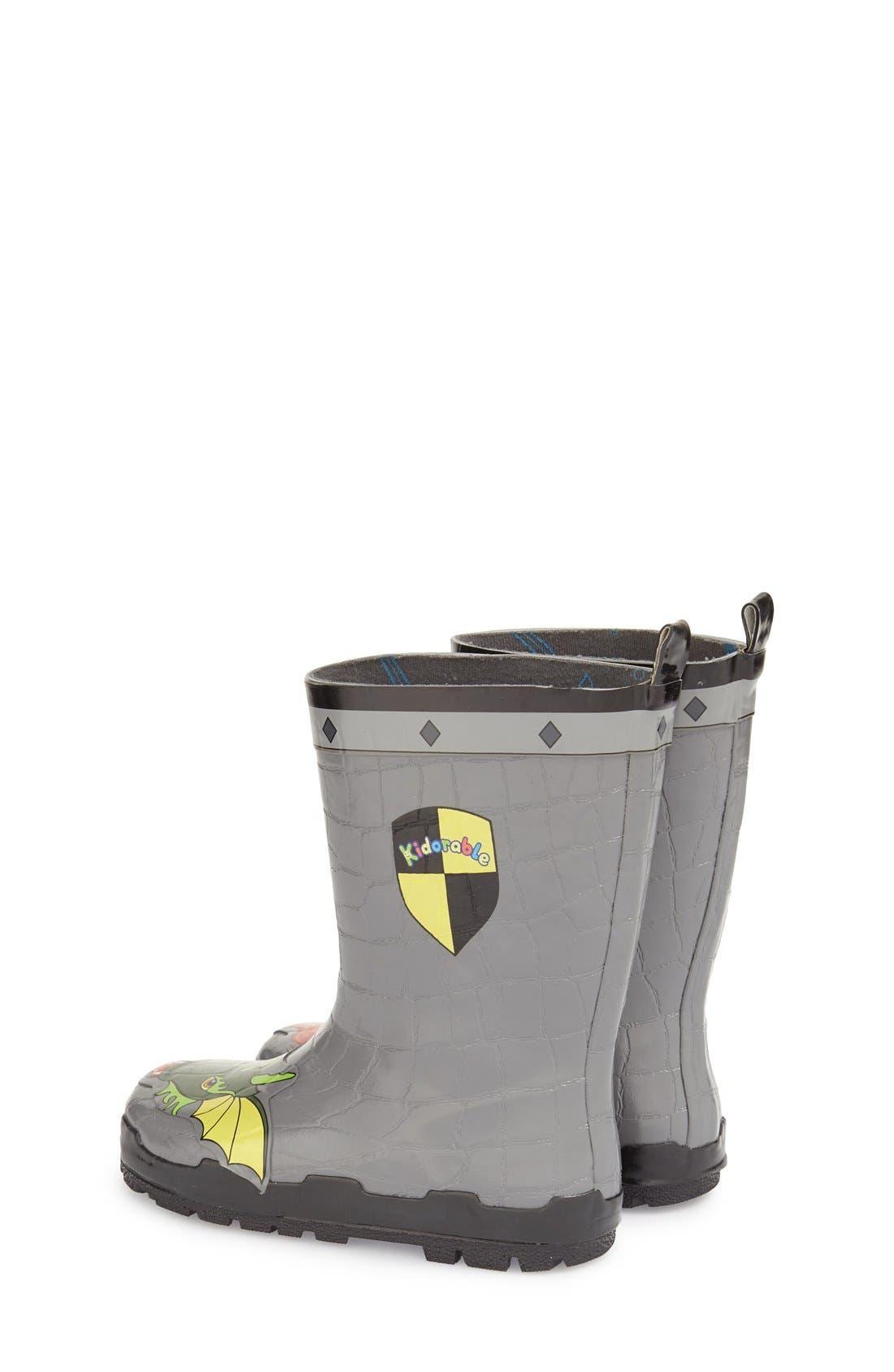 'Dragon Knight' Waterproof Rain Boot,                             Alternate thumbnail 2, color,                             020