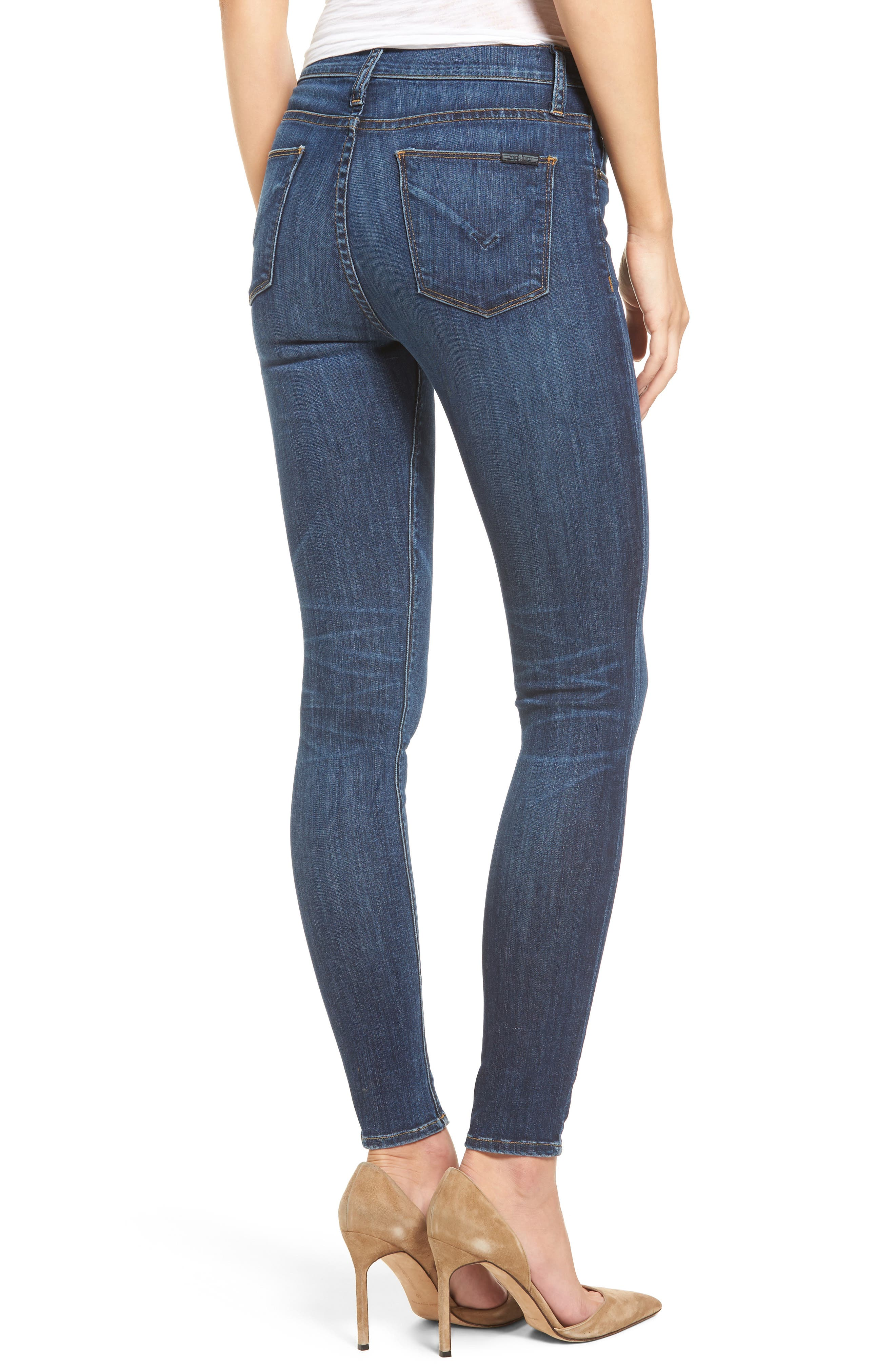 'Barbara' High Rise Super Skinny Jeans,                             Alternate thumbnail 2, color,                             401