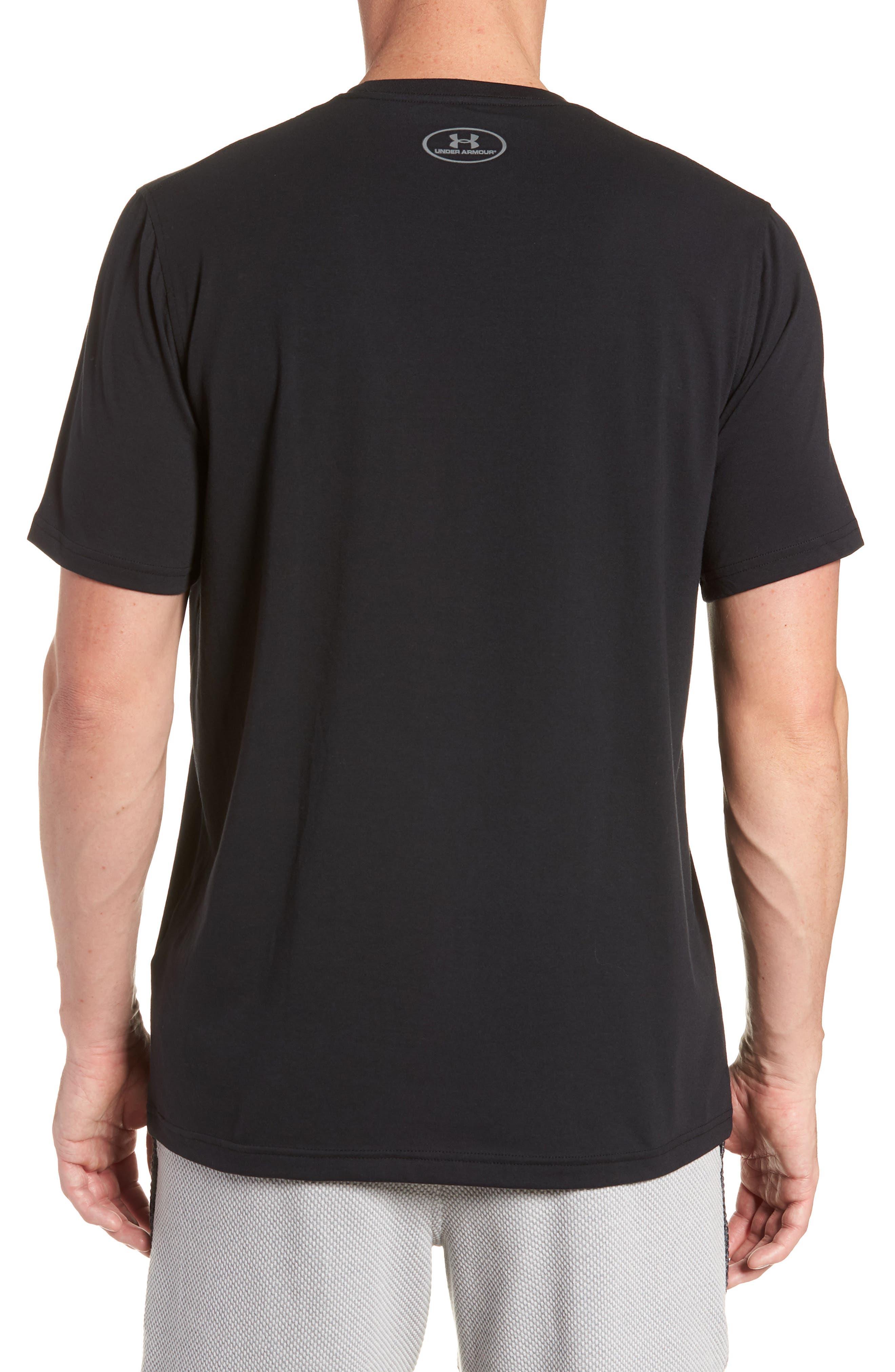 Trim Fit Vanish Logo T-Shirt,                             Alternate thumbnail 2, color,                             BLACK/ WHITE/ GRAPHITE