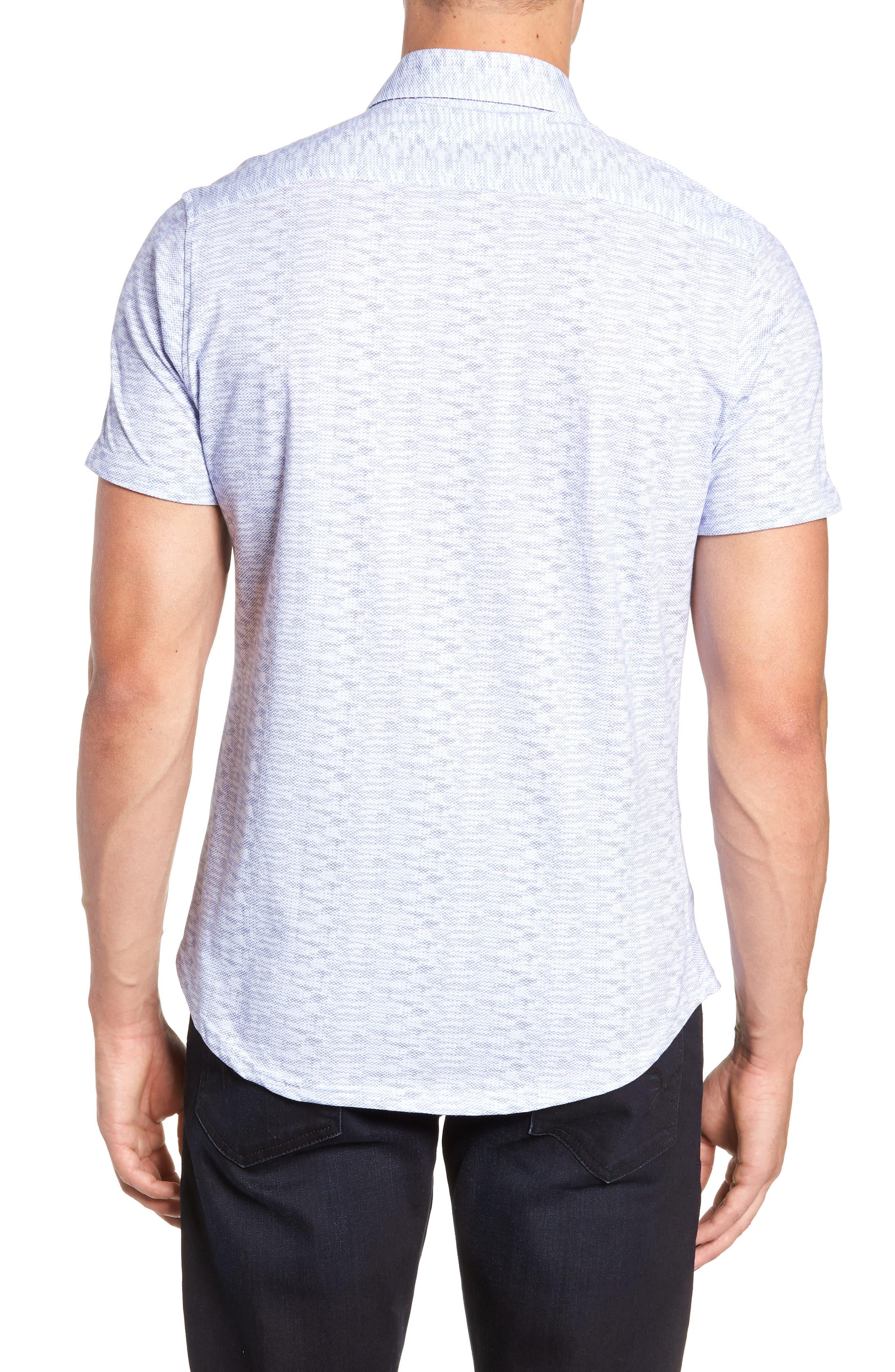 Heather Regular Fit Knit Sport Shirt,                             Alternate thumbnail 3, color,                             400