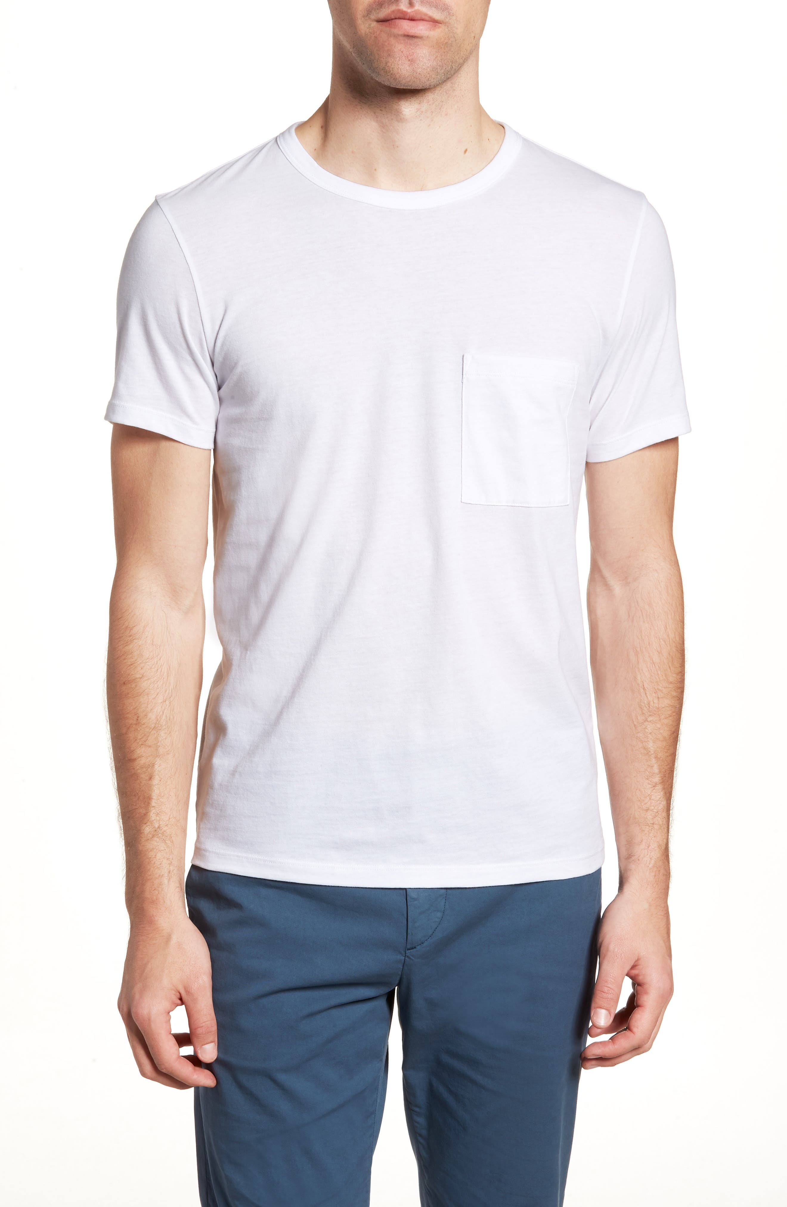 Essential Regular Fit T-Shirt,                         Main,                         color, WHITE