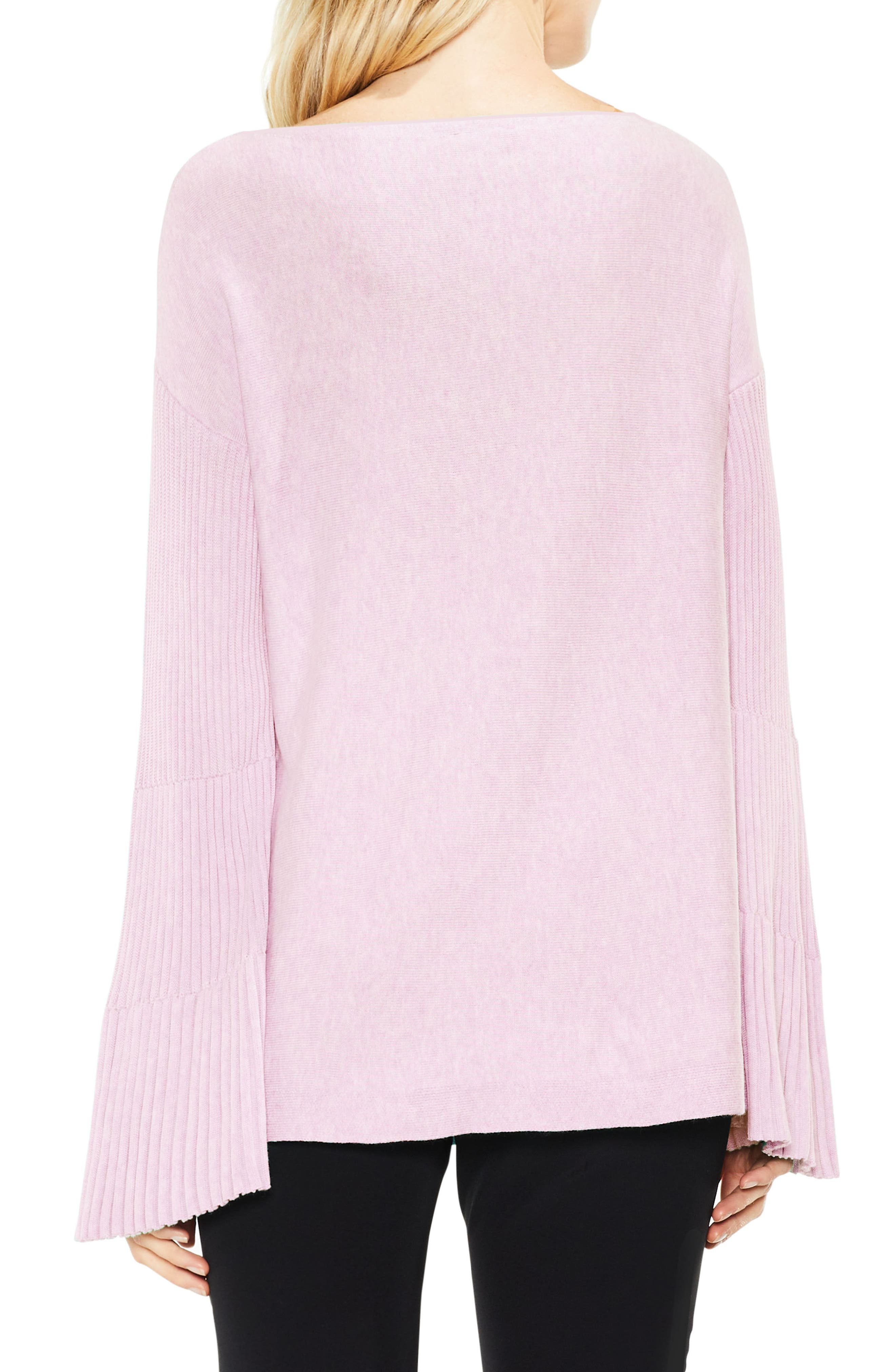 Bell Sleeve Ribbed Sweater,                             Alternate thumbnail 19, color,