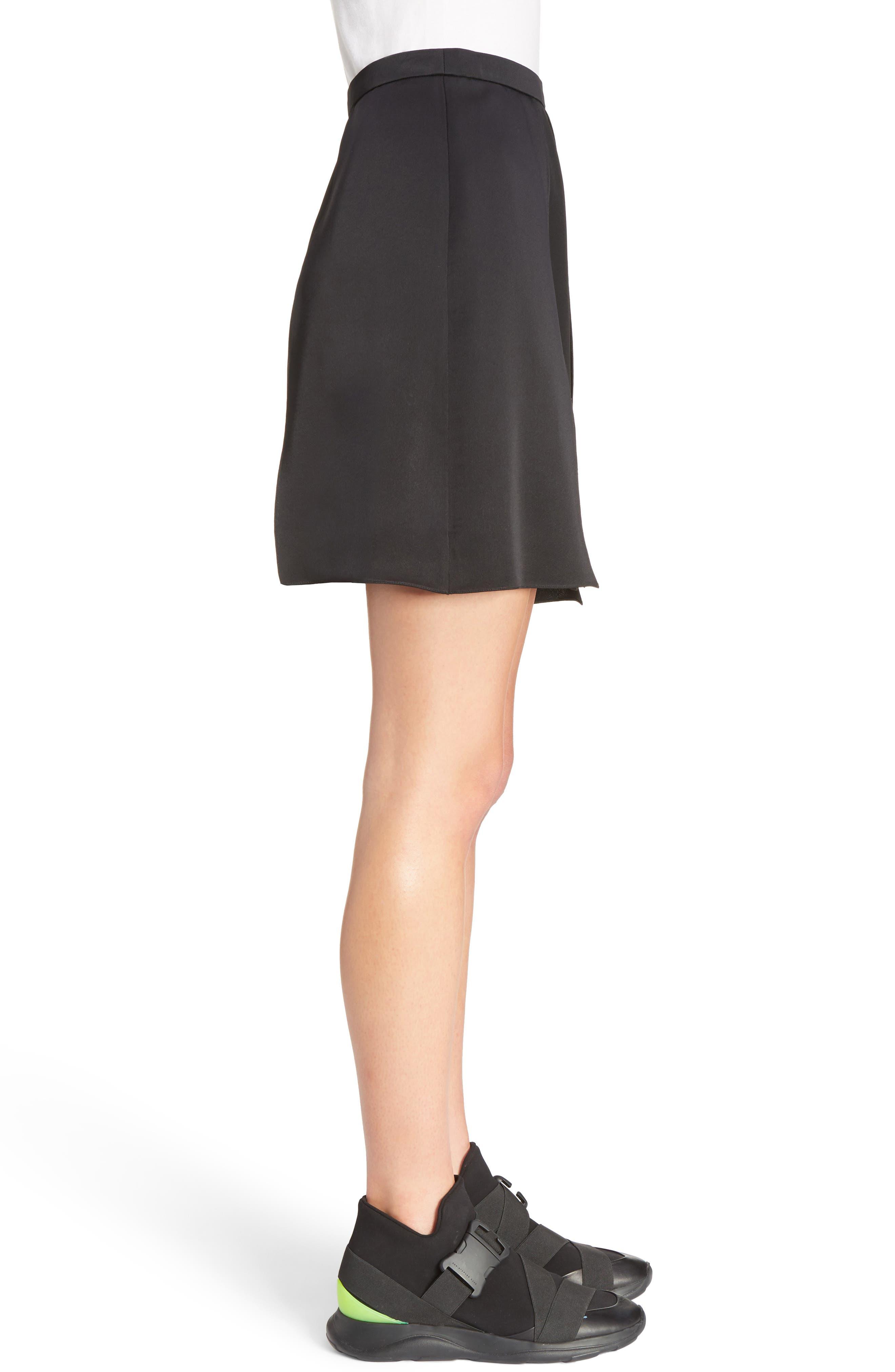Layered Miniskirt,                             Alternate thumbnail 3, color,                             001