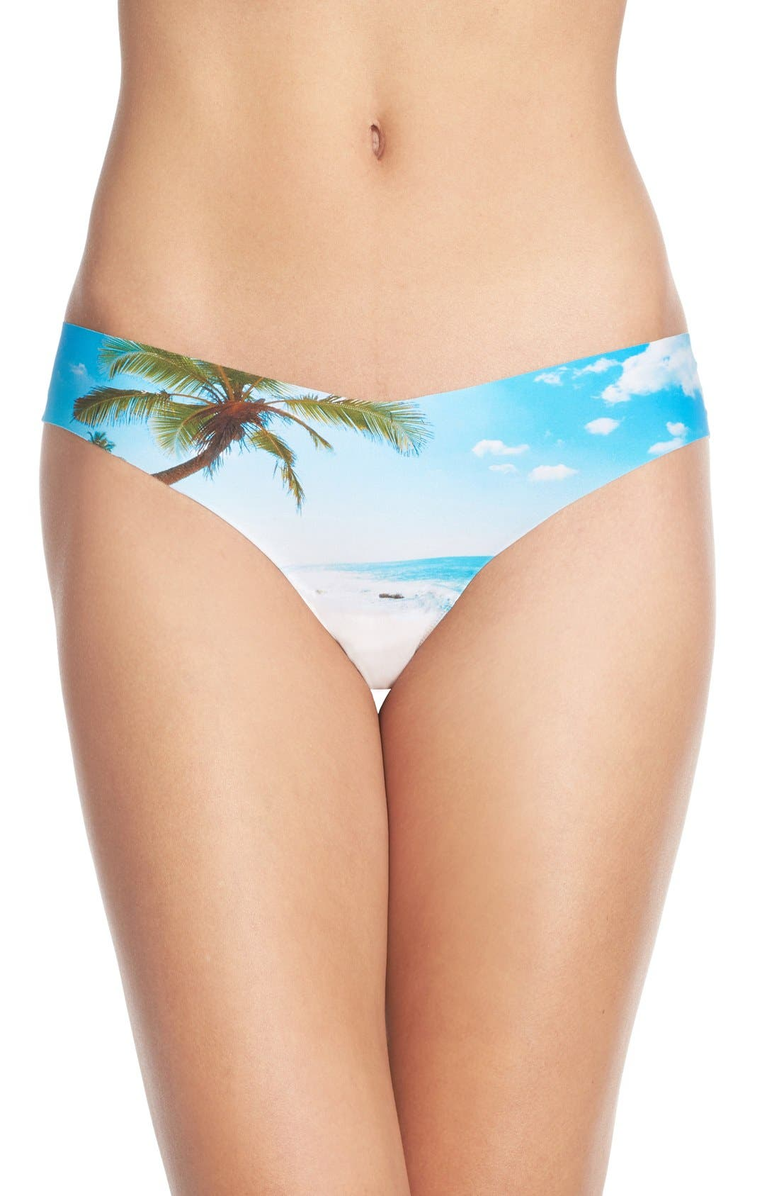 Print Microfiber Thong,                             Main thumbnail 65, color,