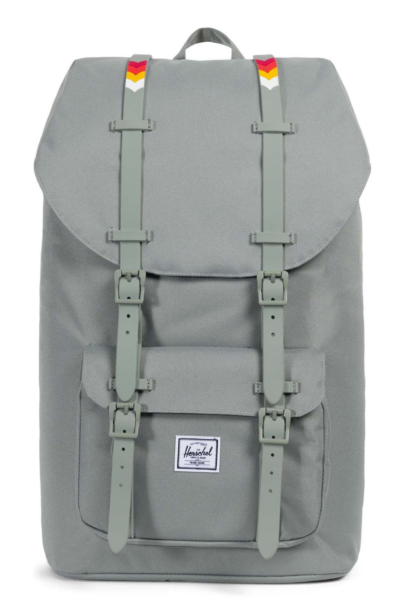Little America Rugby Stripe Backpack,                         Main,                         color, 025
