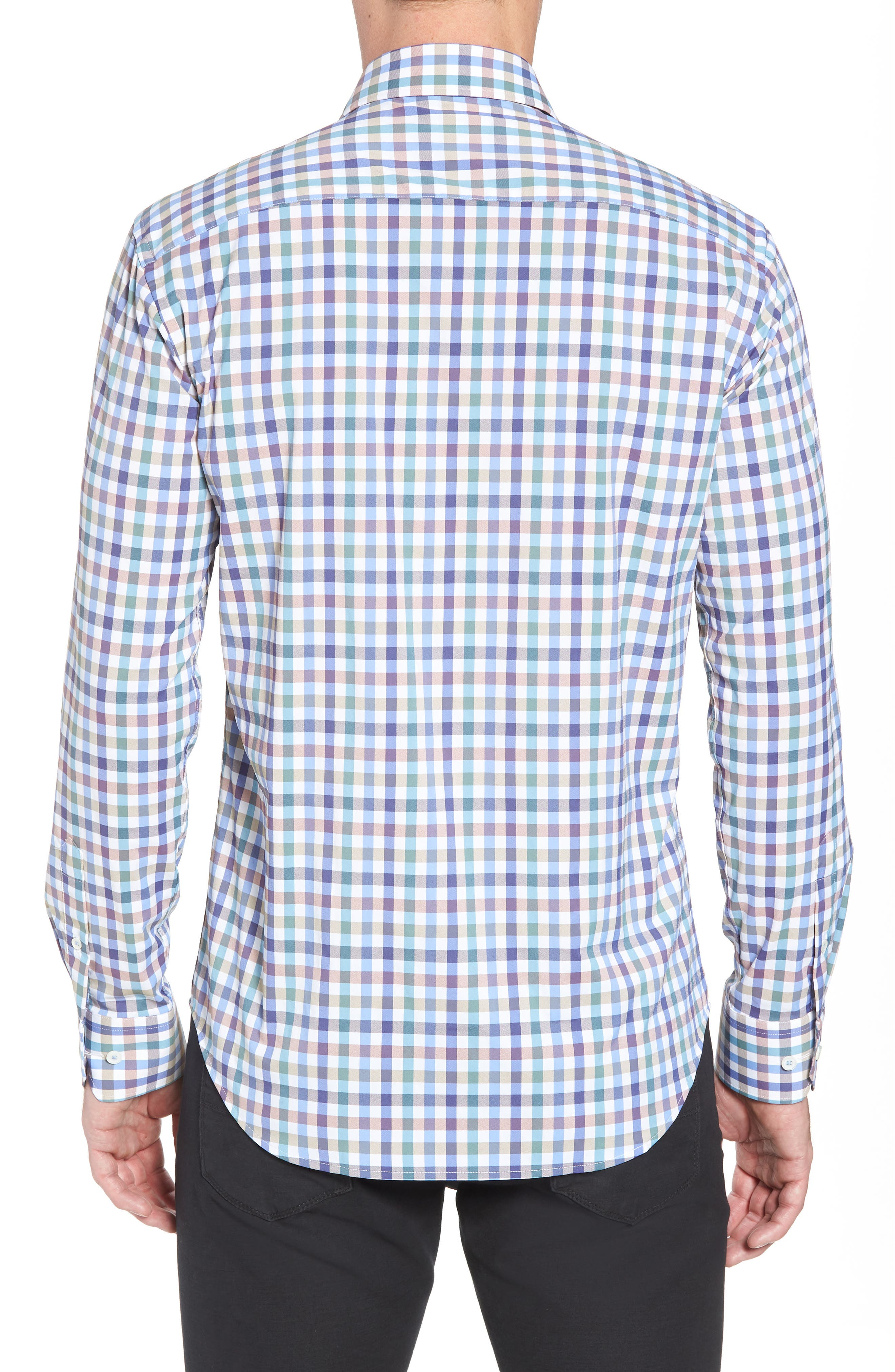 Shaped Fit Check Sport Shirt,                             Alternate thumbnail 2, color,                             208