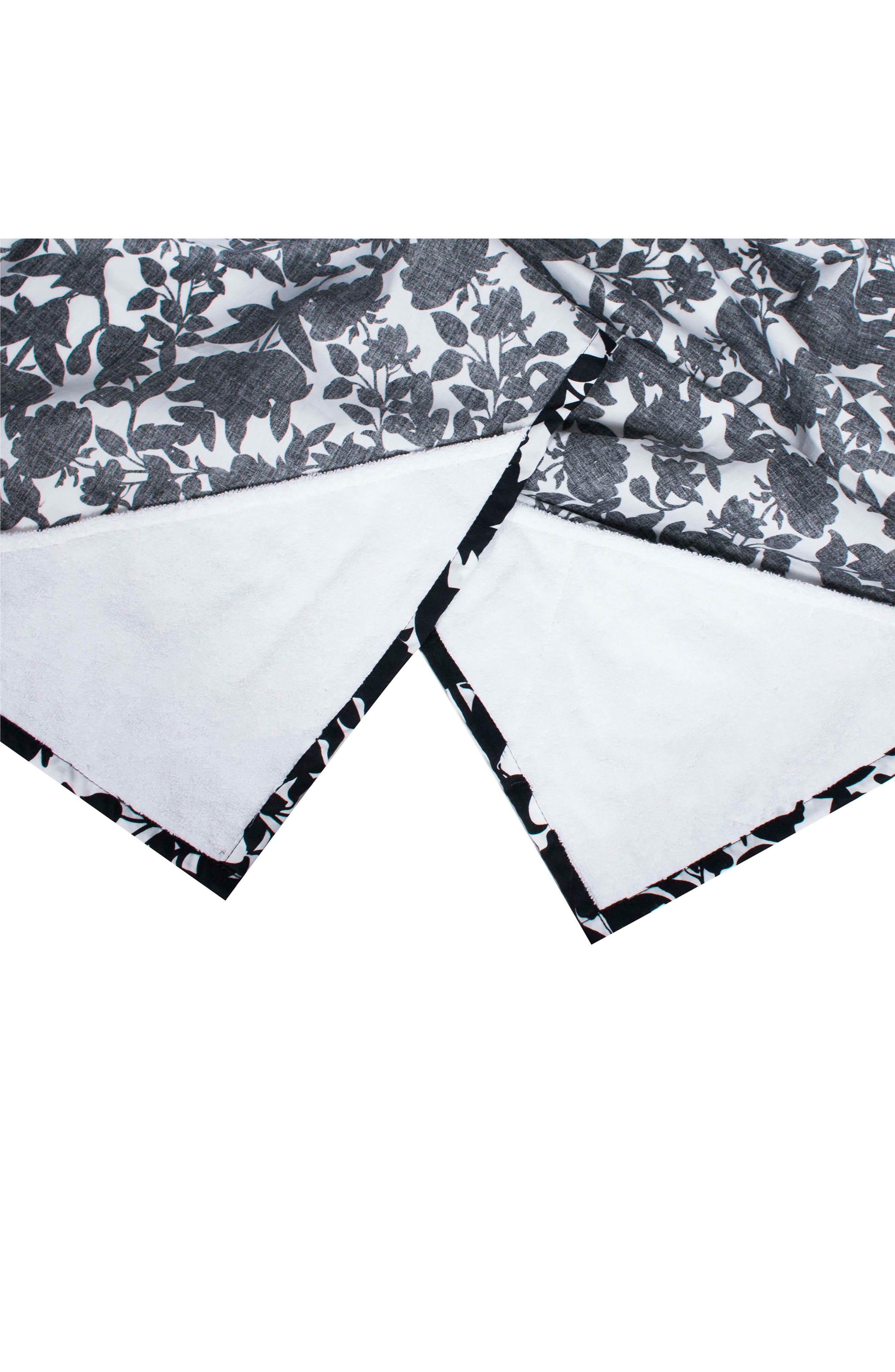 Gingko Print Cover & 3-Pack Burp Cloths,                             Alternate thumbnail 2, color,                             SAKURA