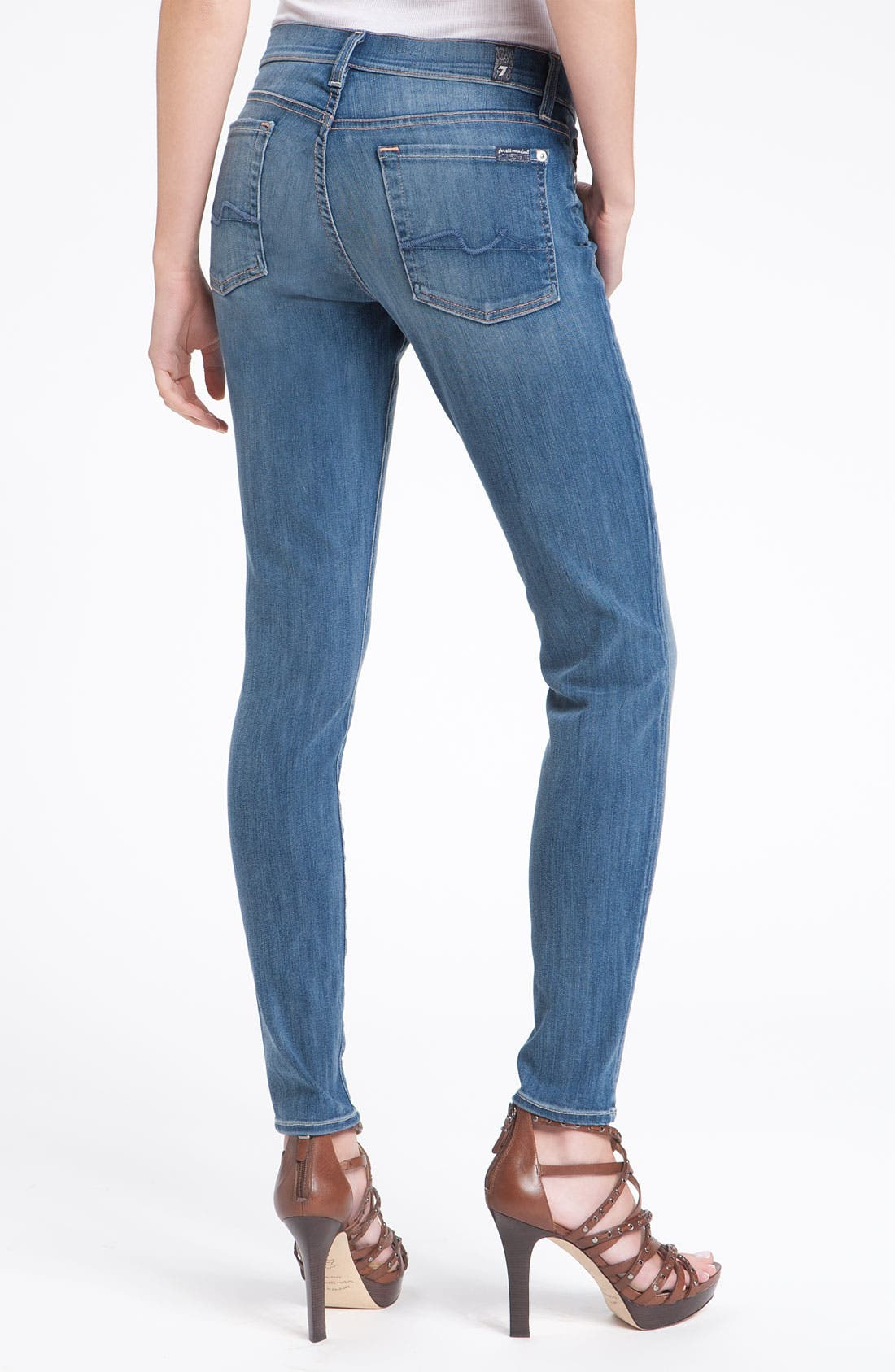 7 FOR ALL MANKIND<SUP>®</SUP> 'Gwenevere' Skinny Jeans, Main, color, 400