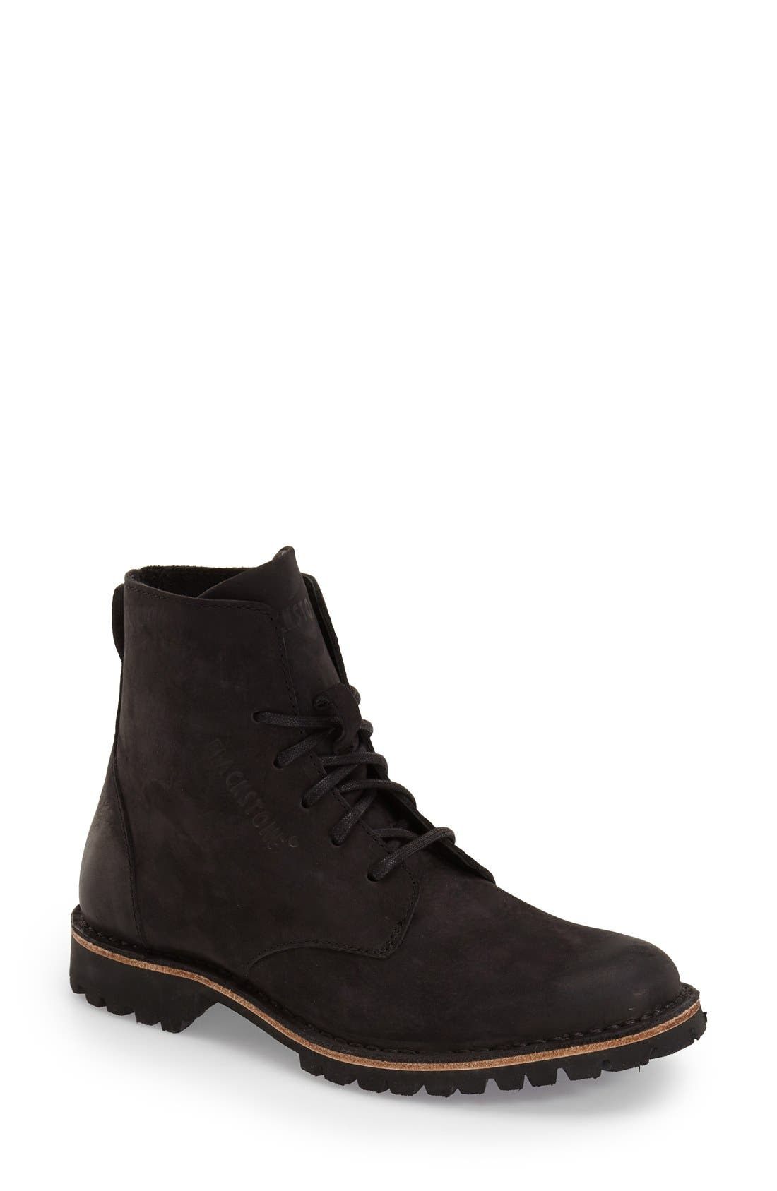 'KL67' Lace-Up Boot,                             Main thumbnail 1, color,                             BLACK LEATHER