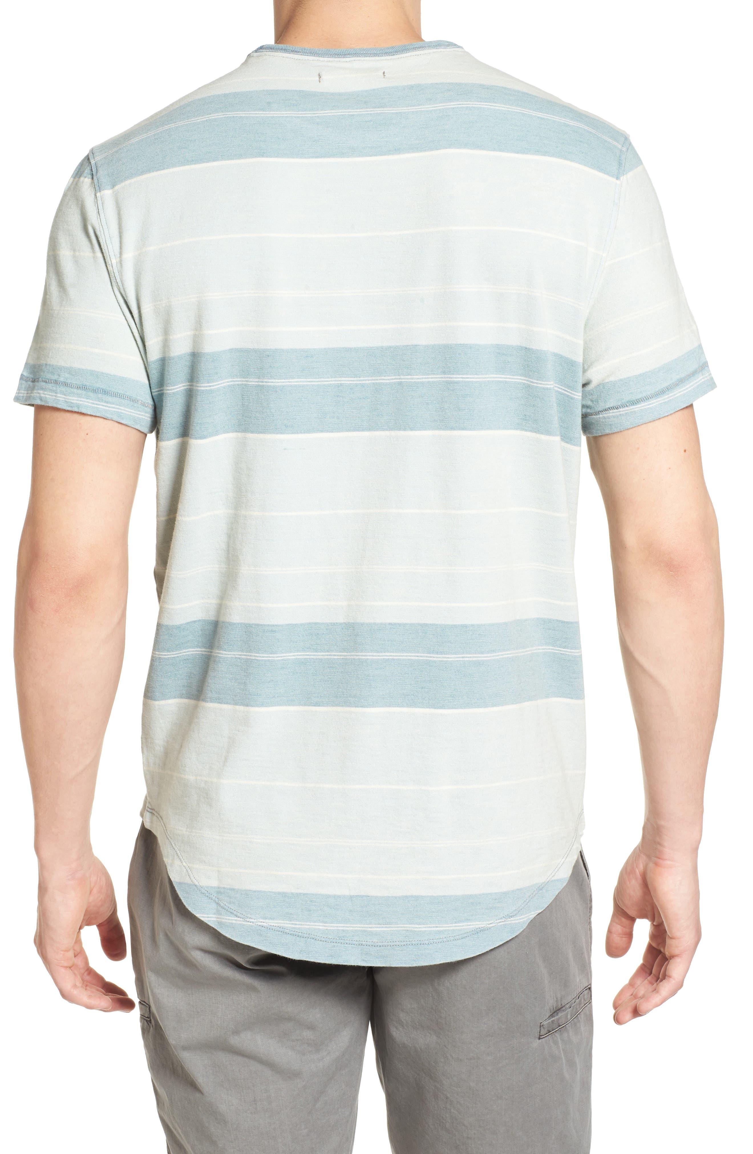 Tully Indigo Stripe T-Shirt,                             Alternate thumbnail 2, color,                             458