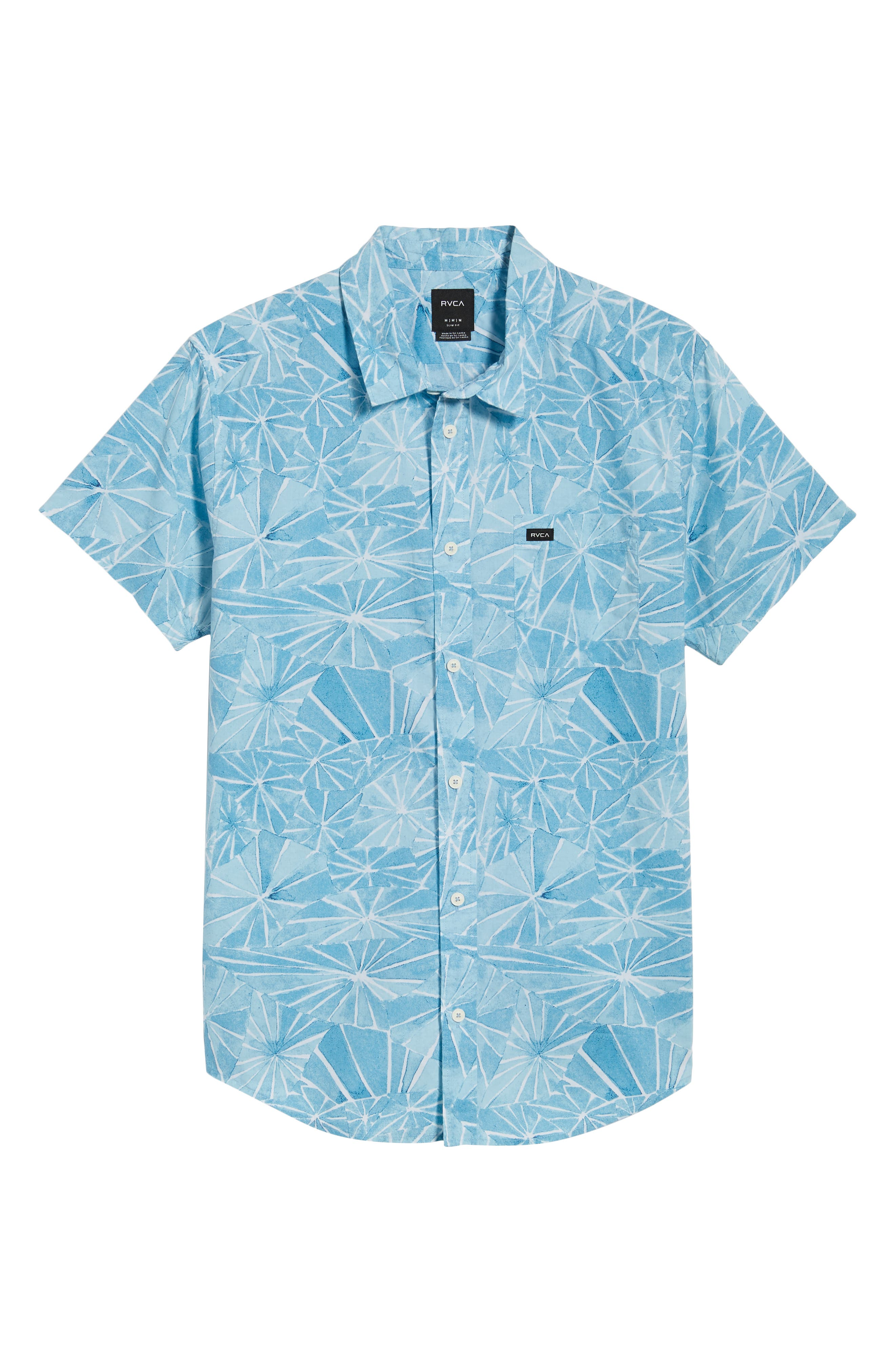 Blade Woven Shirt,                             Alternate thumbnail 6, color,                             DUSTY BLUE