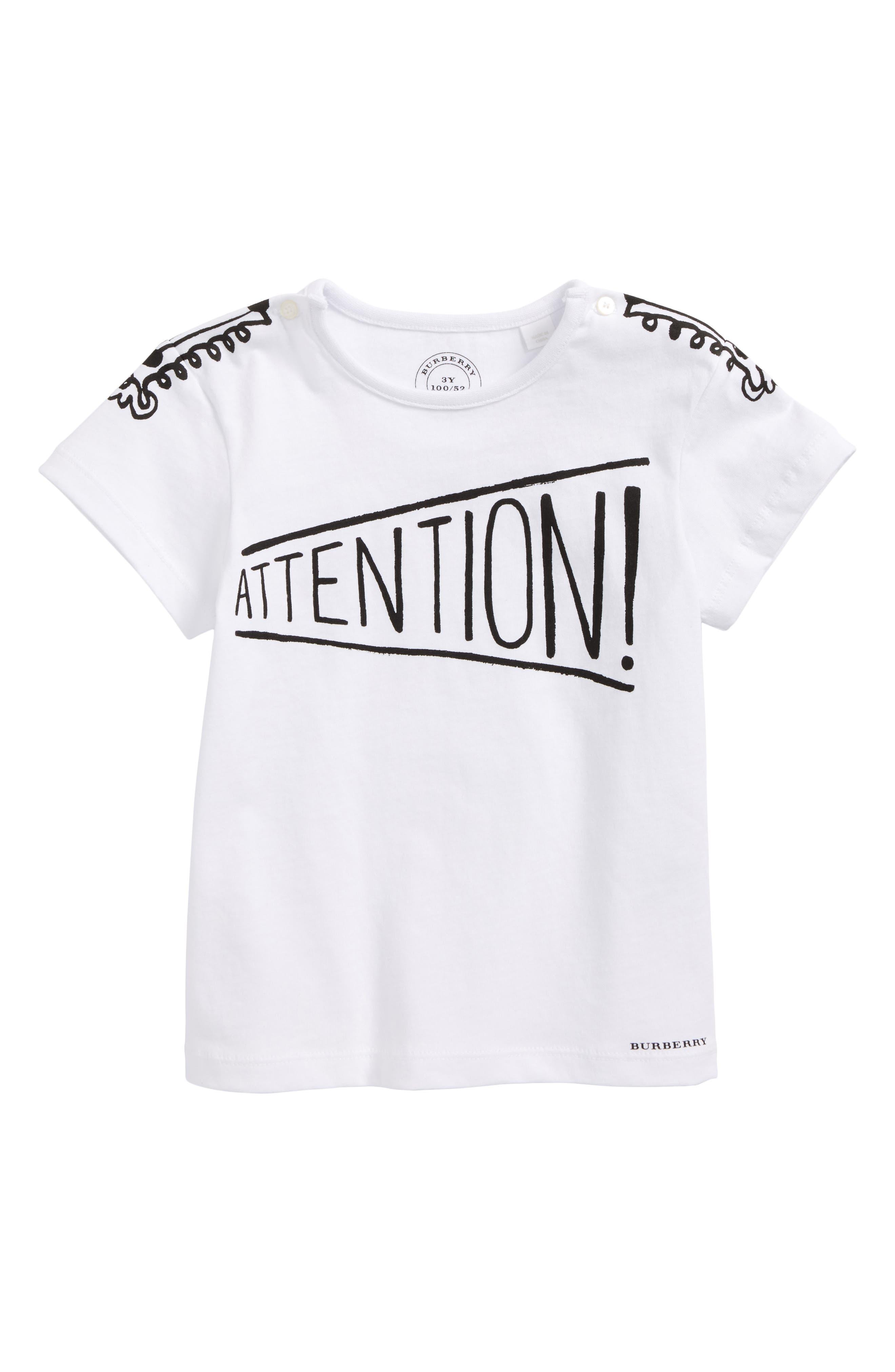 Attention T-Shirt,                             Main thumbnail 1, color,                             100