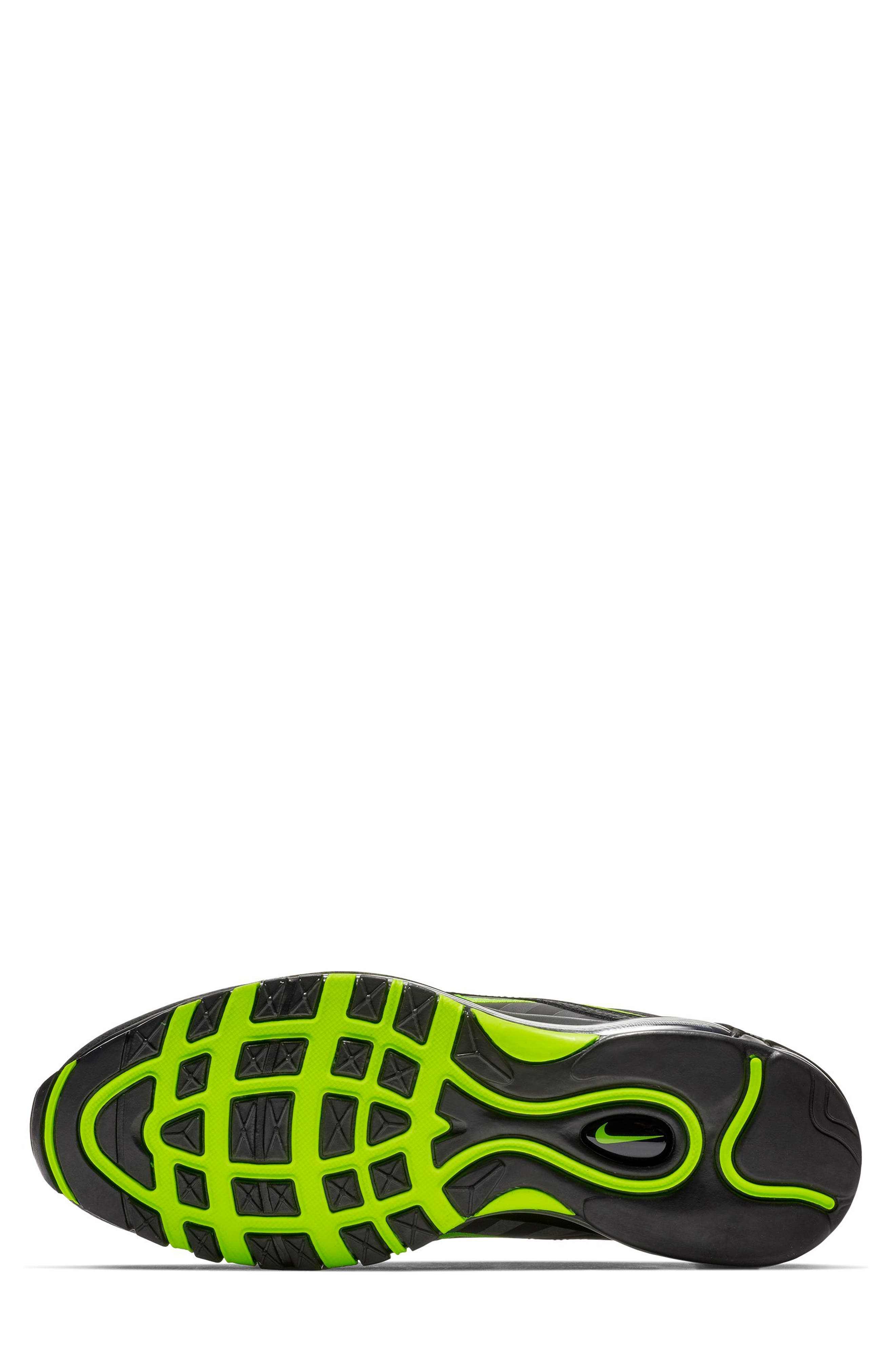 Air Max 97 Sneaker,                             Alternate thumbnail 5, color,                             THUNDER GREY/ LIME/ BLACK