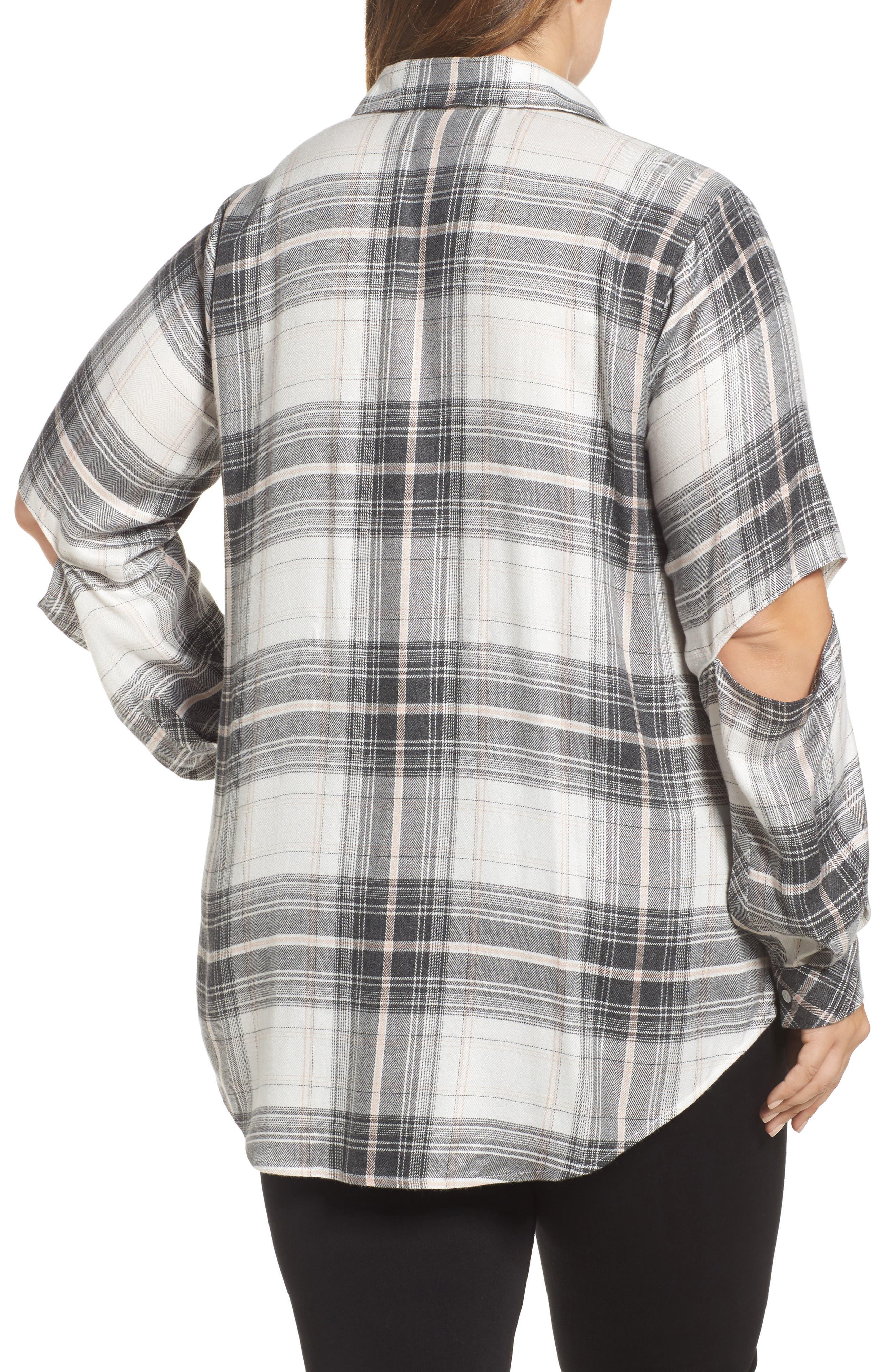 Cold Elbow Linearscape Plaid Shirt,                             Alternate thumbnail 2, color,                             669
